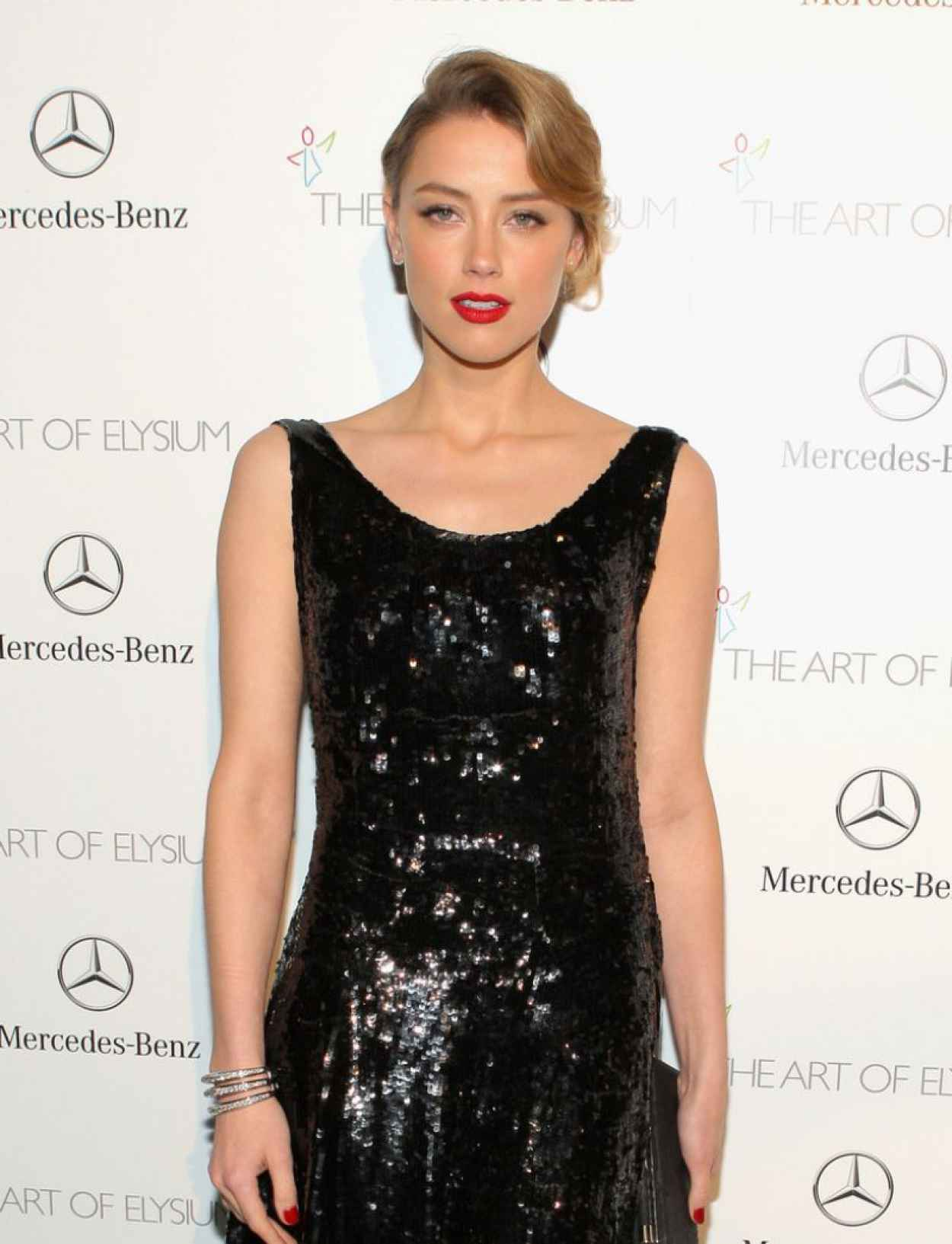 Amber Heard - The Art of Elysiums 7th Annual HEAVEN Gala, January 2015-1