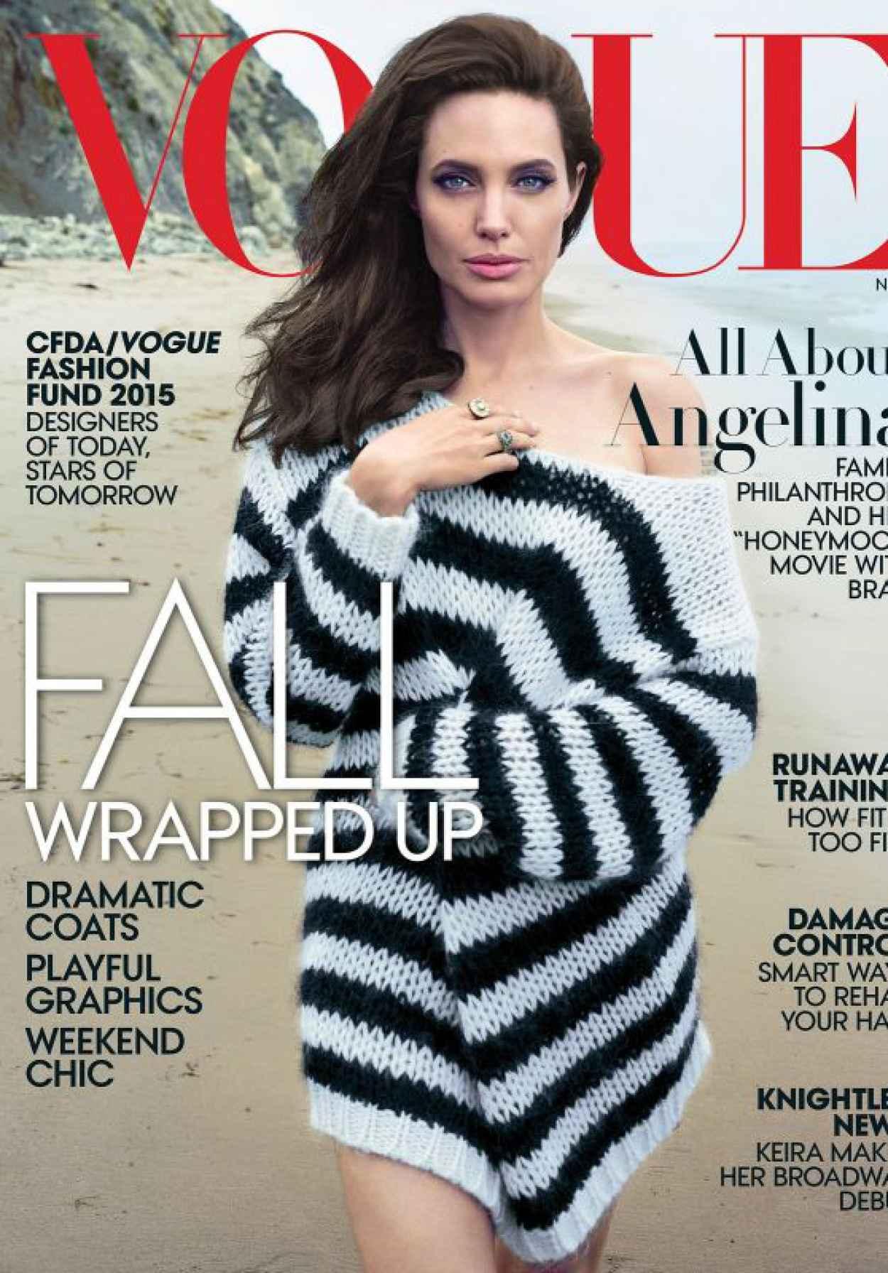 Angelina Jolie - Vogue Magazine November 2015 Cover-1