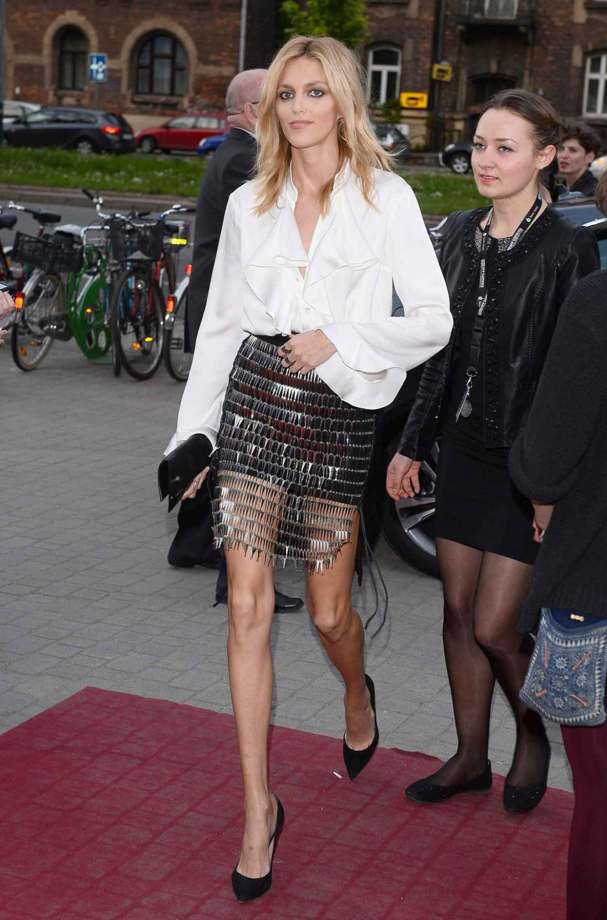 Anja Rubik - Arrive to Closing Ceremony PKO Off Camera in Krakow in Poland, May 2015-2
