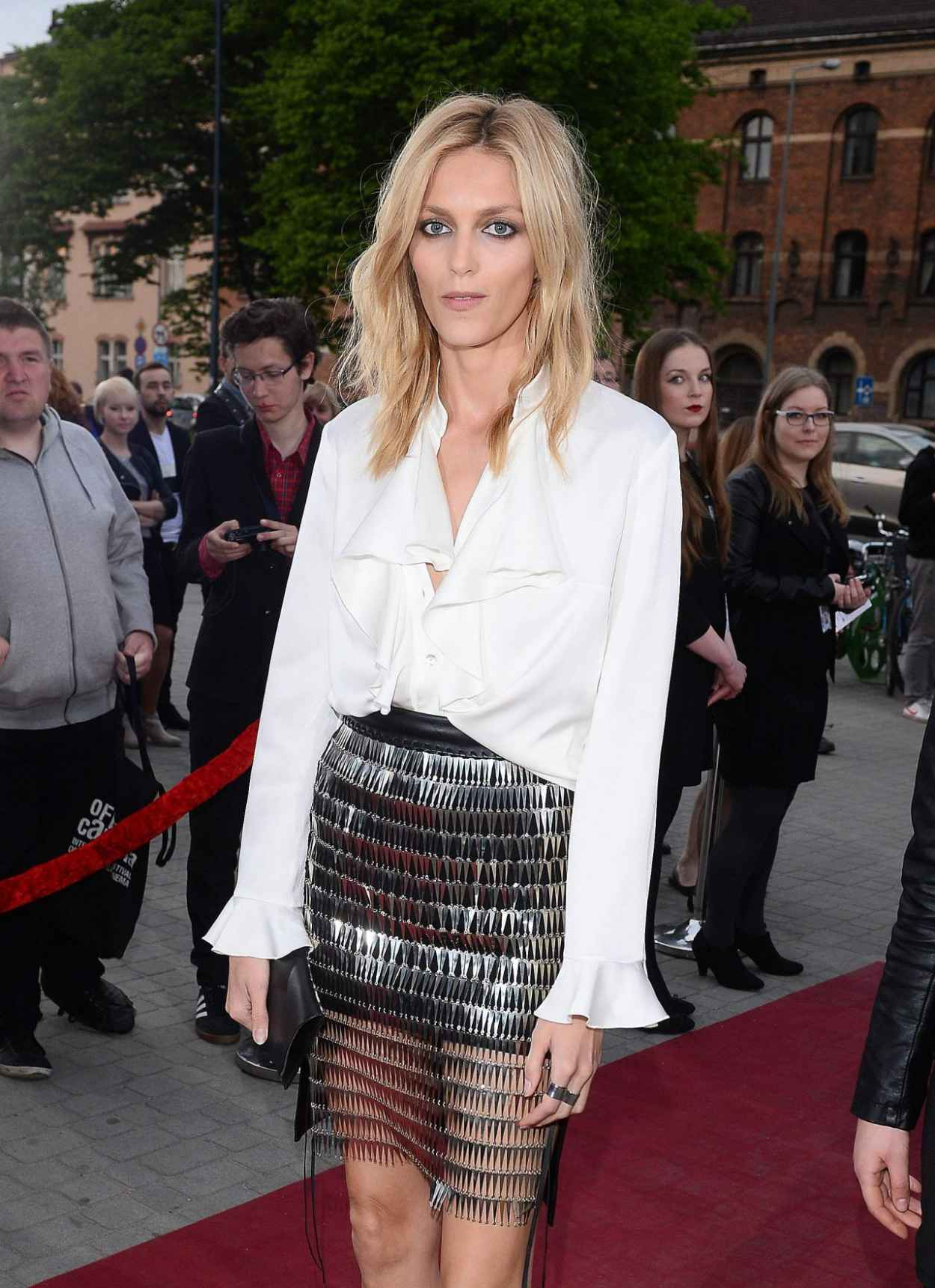 Anja Rubik - Arrive to Closing Ceremony PKO Off Camera in Krakow in Poland, May 2015-4