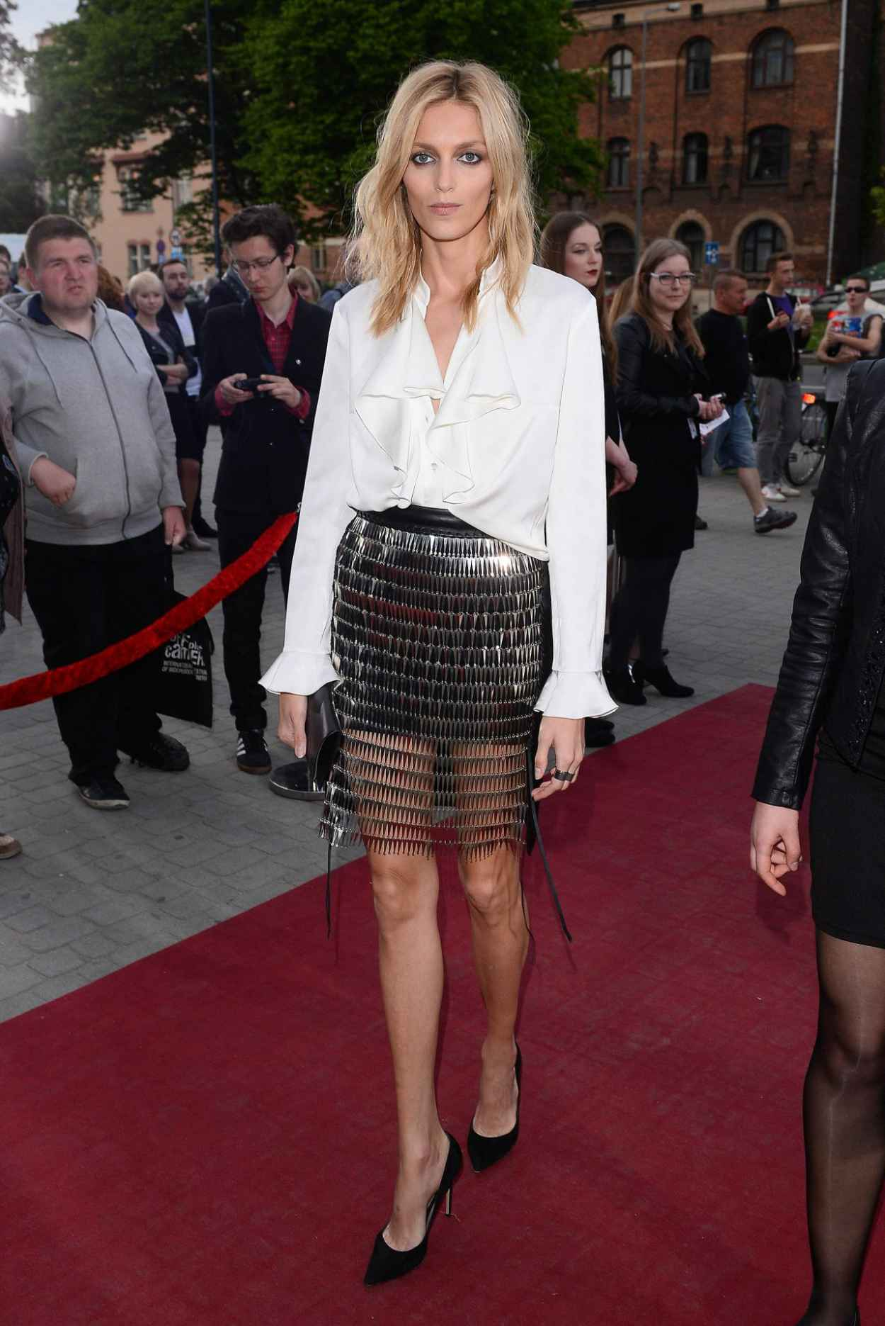 Anja Rubik - Arrive to Closing Ceremony PKO Off Camera in Krakow in Poland, May 2015-5