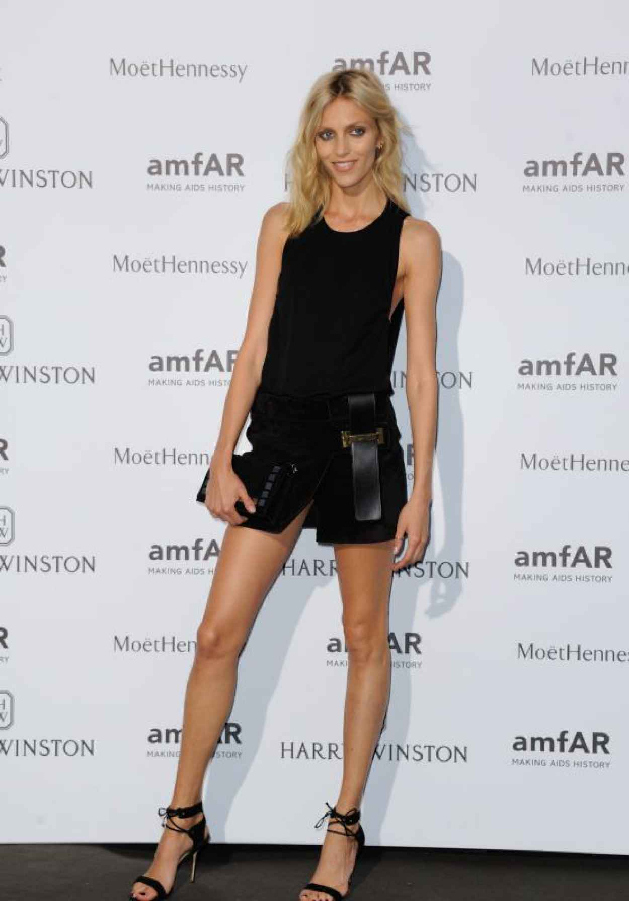 Anja Rubik on Red Carpet - amfAR Dinner in Paris, July 2015-1