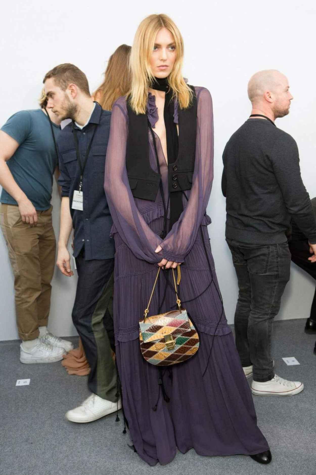 Anja Rubik - Runway/Backstage the Chloe Show - Paris Fashion Week March 2015-1