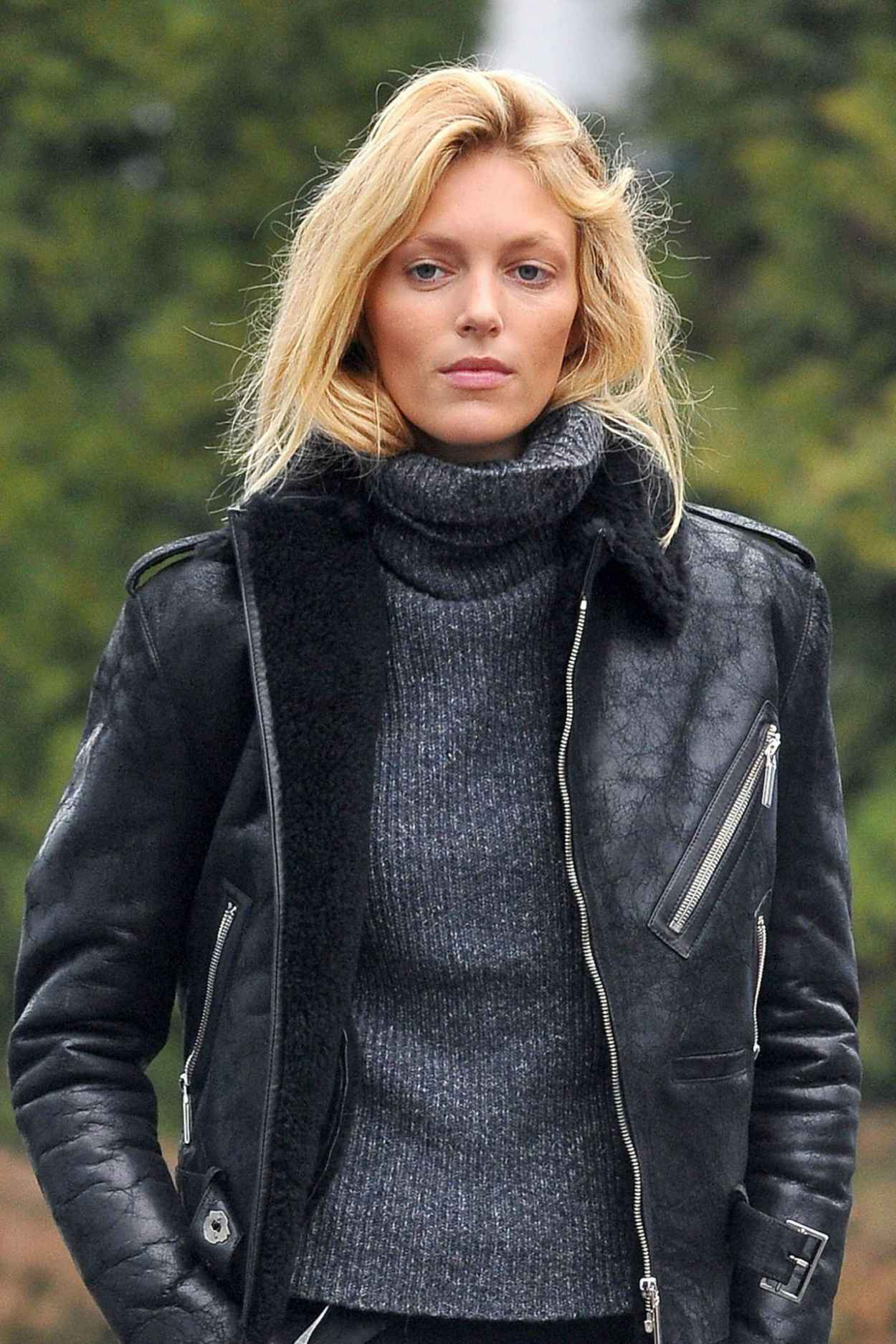 Anja Rubik Style - Out in Warsaw, Poland January 2015-1