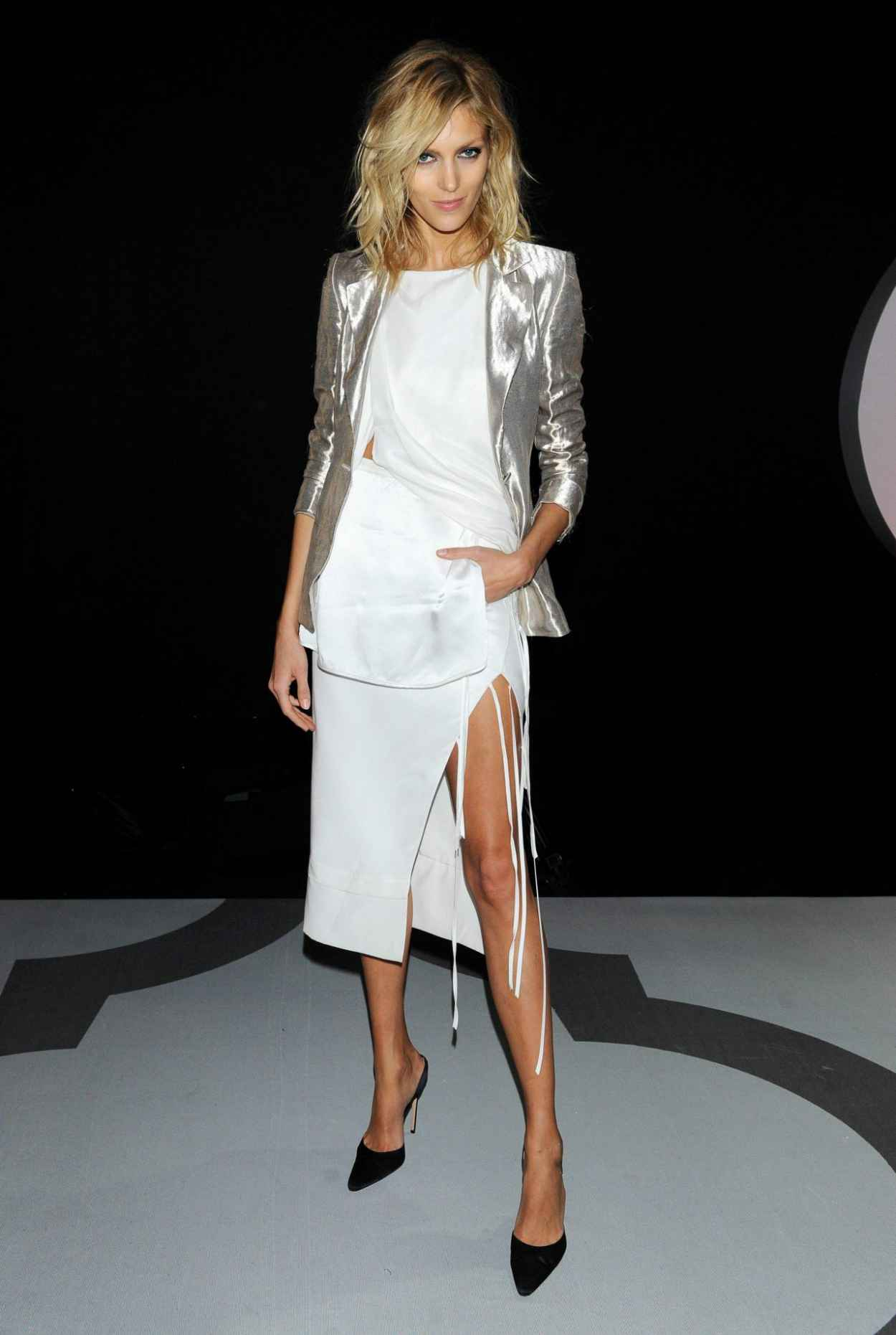 Anja Rubik - TVN TV Show in Warsaw - February 2015-1