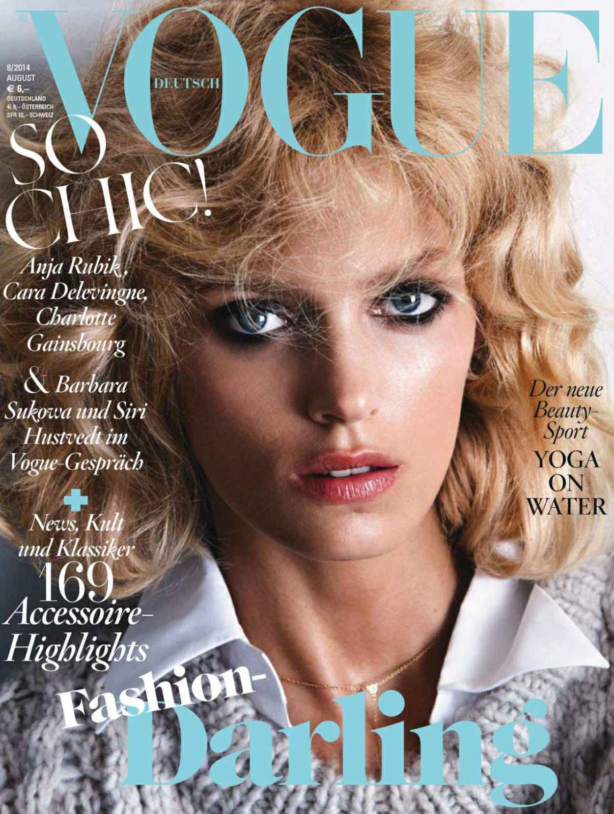 Anja Rubik - Vogue Magazine (Germany) August 2015 Issue-1