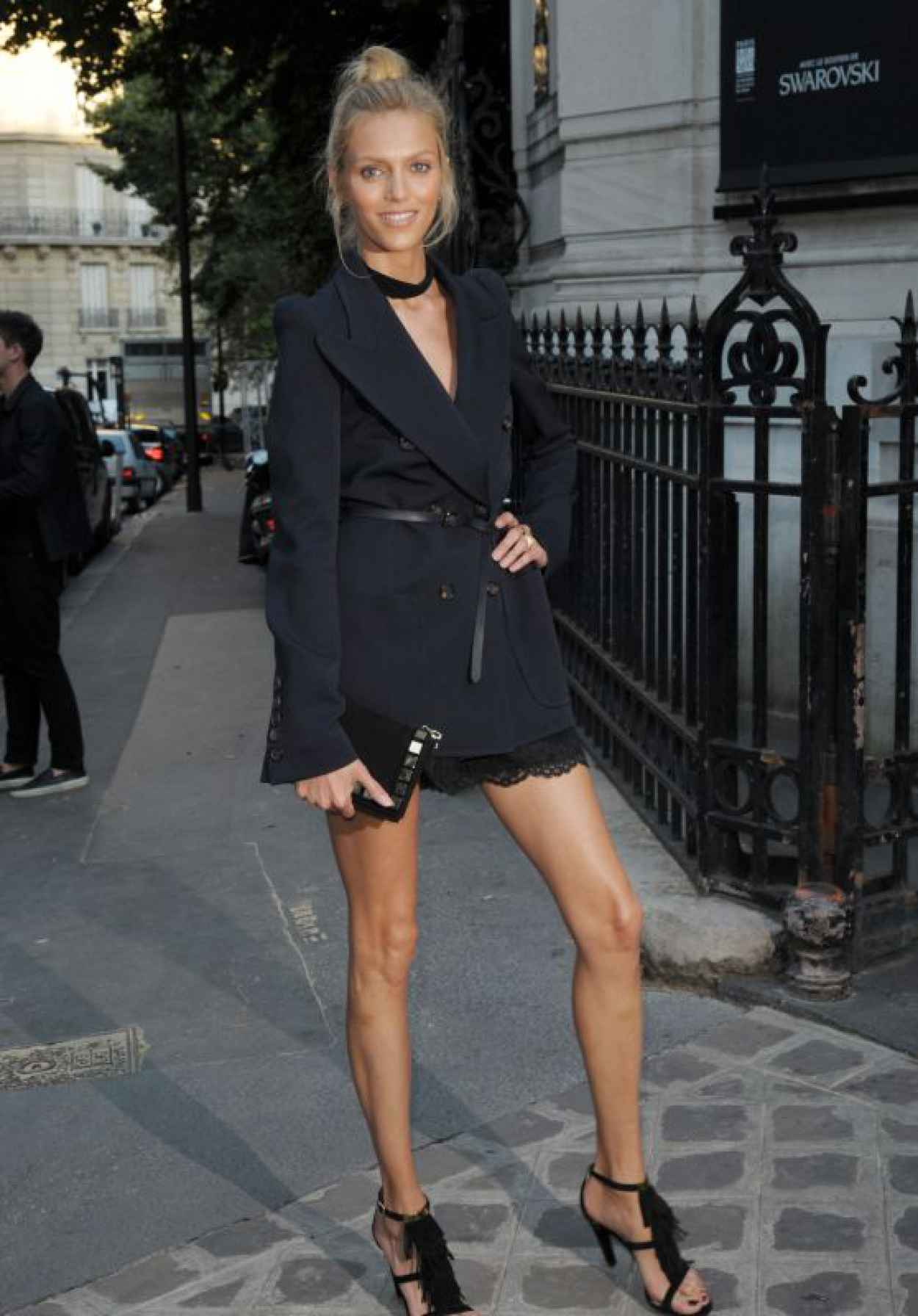 Anja Rubik - Vogue Party at Paris Fashion Week - July 2015-1