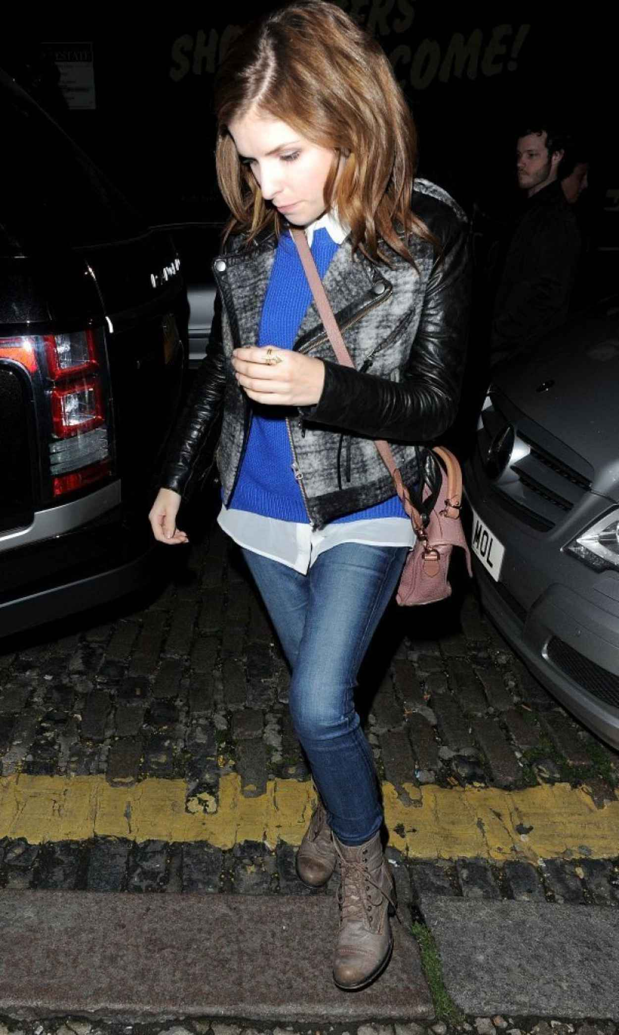 Anna Kendrick Street Style - at Shoreditch House in London-1