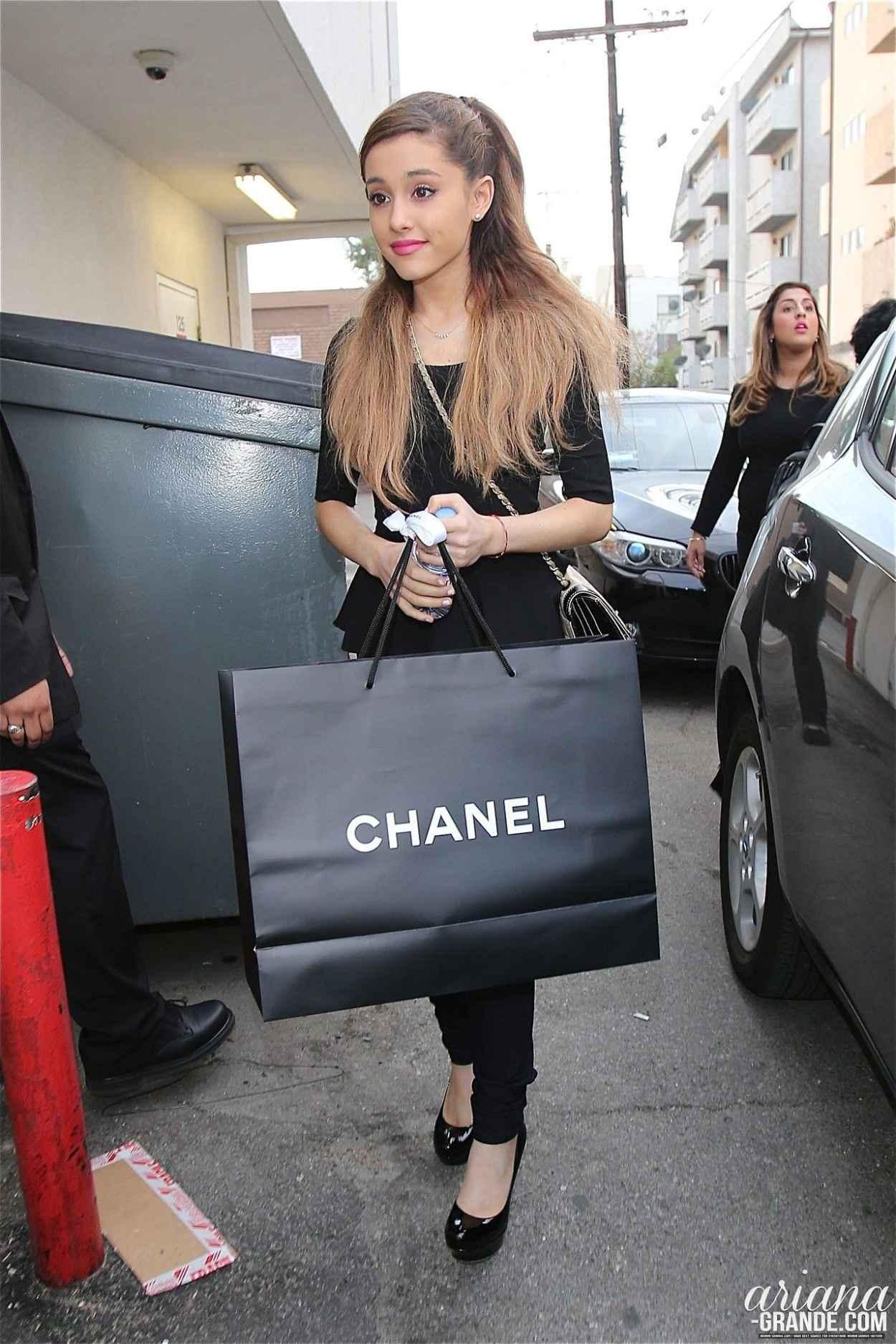 Ariana Grande Shopping at Chanel Hollywood - January 2015-1
