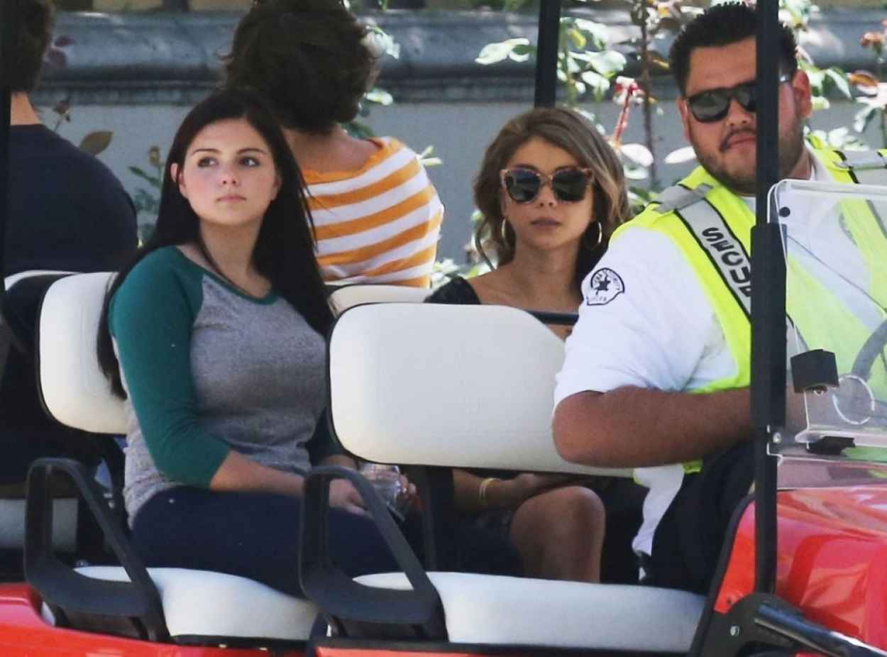 Ariel Winter & Sarah Hyland On The Set Of Modern Family in Pasadena - August 2015-1