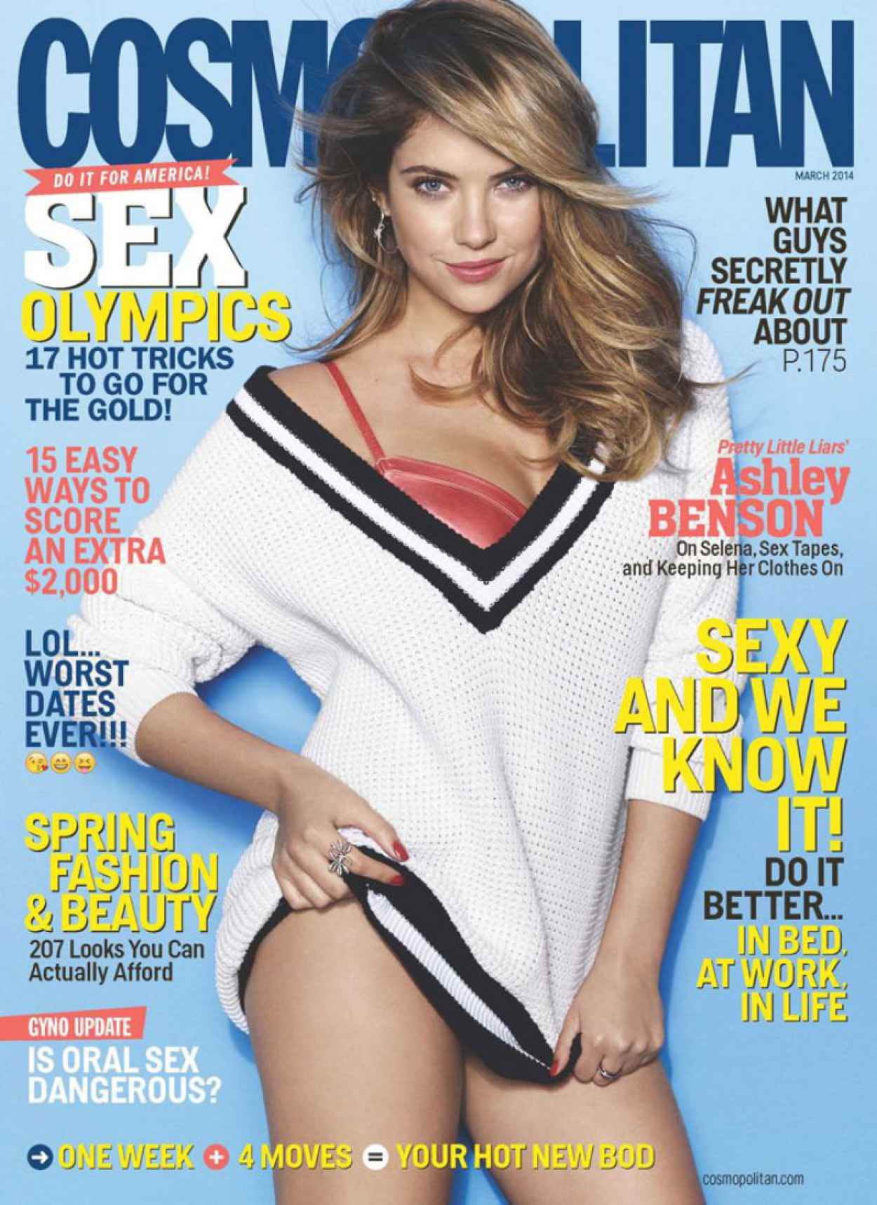 Ashley Benson - COSMOPOLITAN Magazine - March 2015 Issue-1