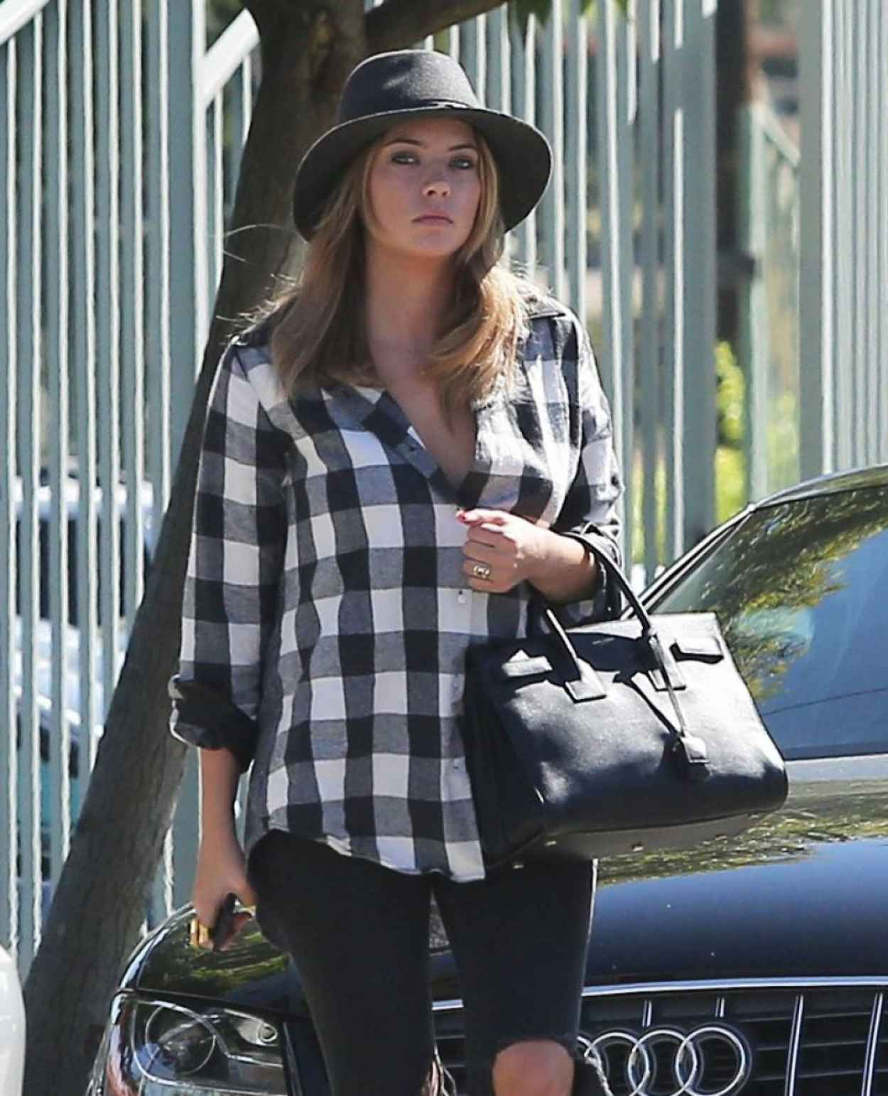 Ashley Benson - Heels and Ripped Jeans out in Santa Monica-1