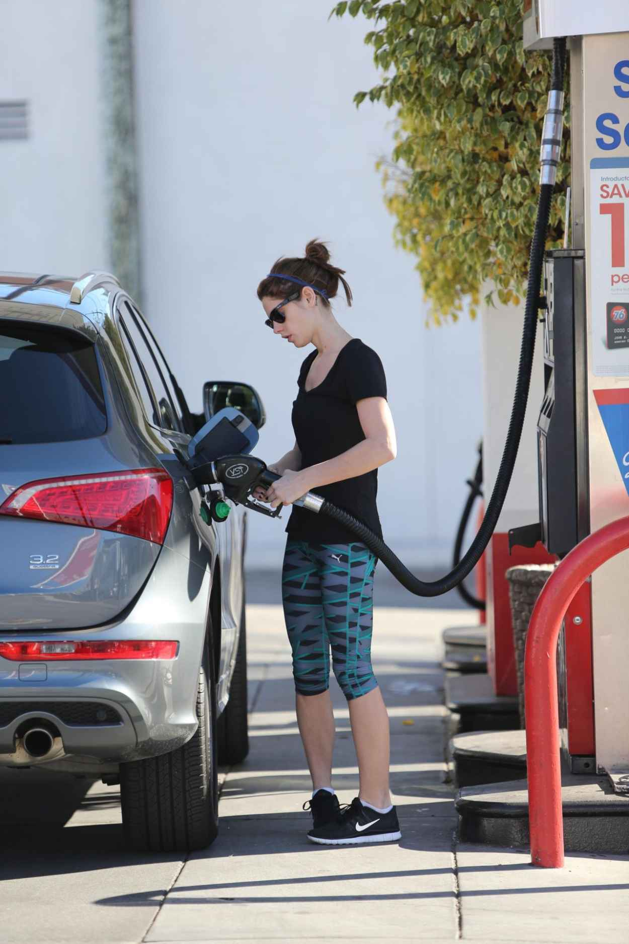 Ashley Greene Seen Pumping Gas in Beverly Hills, January 2015-4