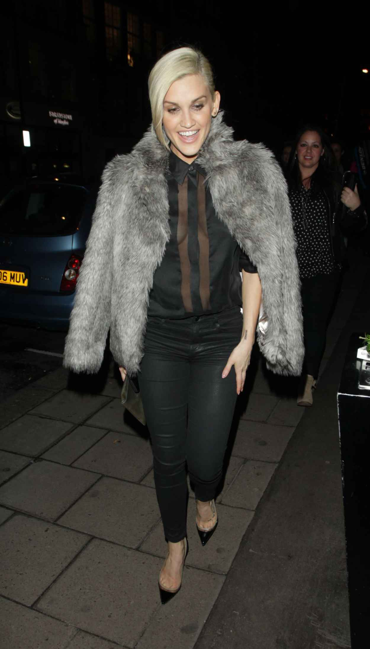 Ashley Roberts Night Out Style - Mayfair Hotel in London, February 2015-1