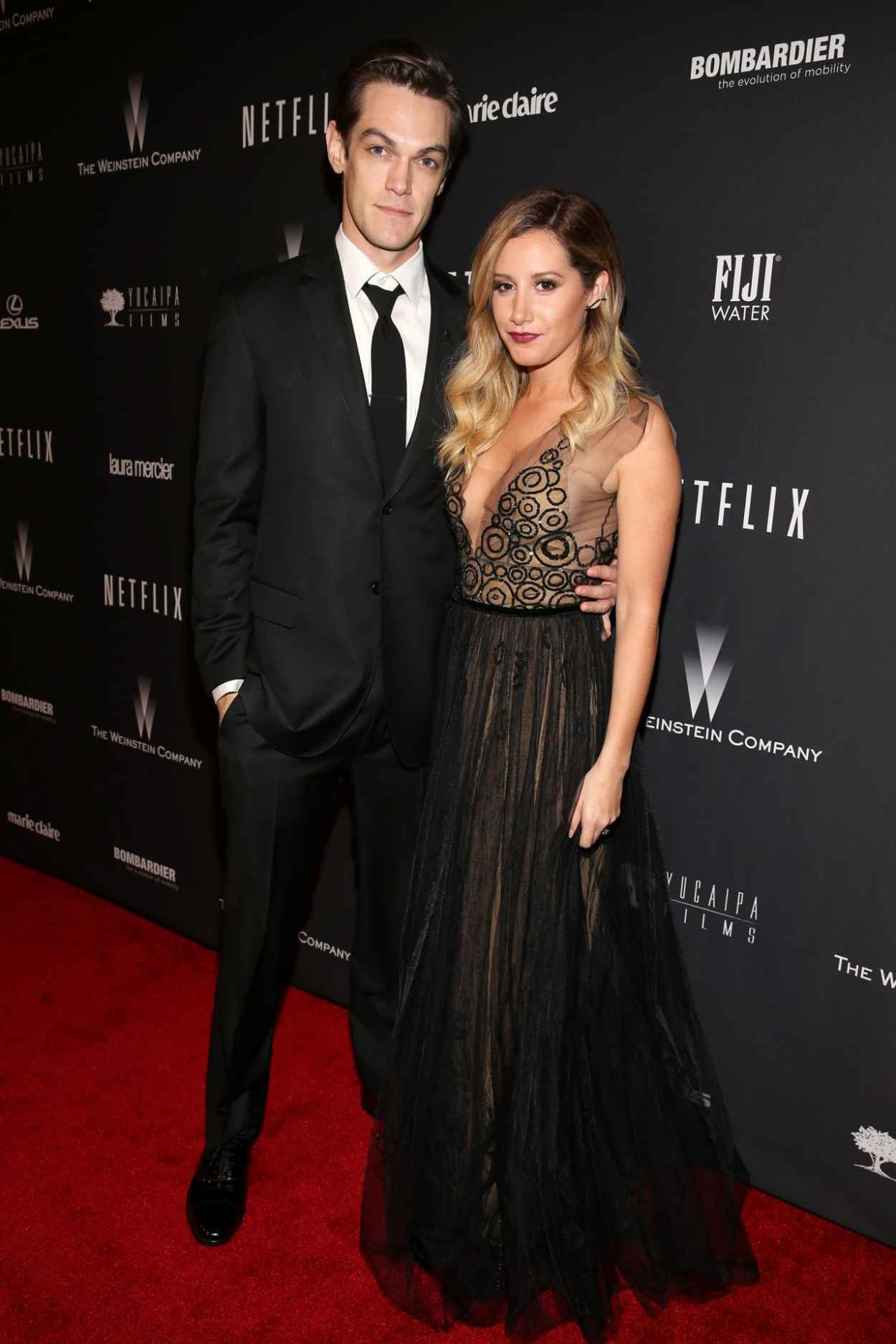 Ashley Tisdale at The Weinstein Company & Netflix 2015 Golden Globe Afterparty-1