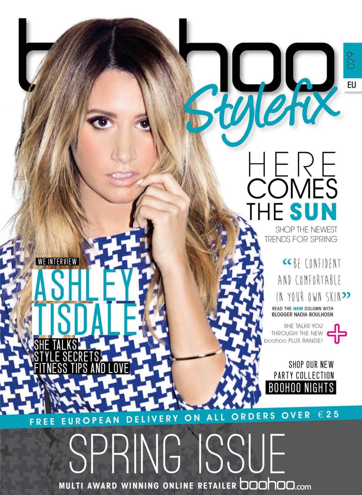 Ashley Tisdale - Boohoo Stylefix Magazine - Spring 2015 Issue Photoshoot-1