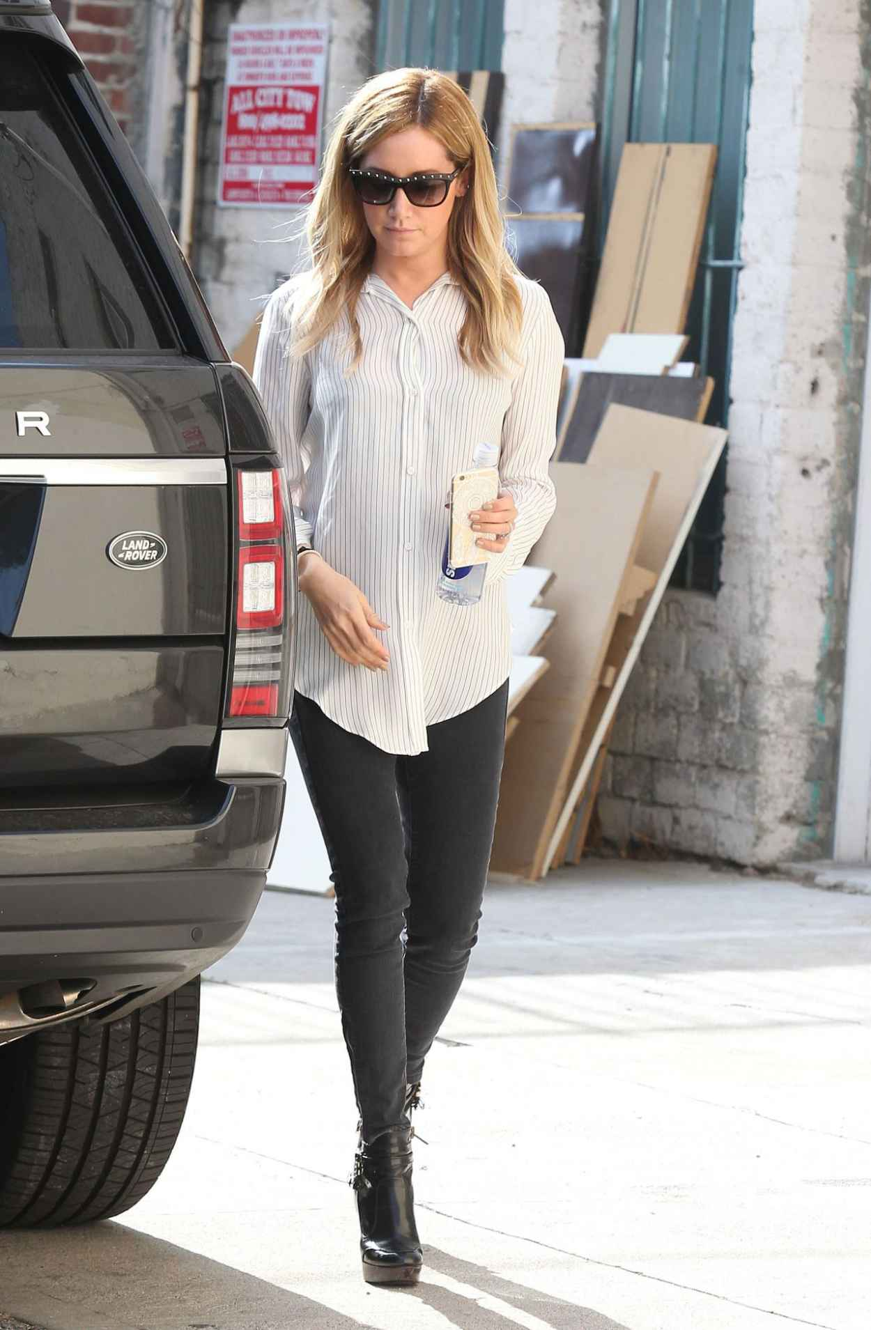 Ashley Tisdale Casual Style – Leaving a Salon in Los ...