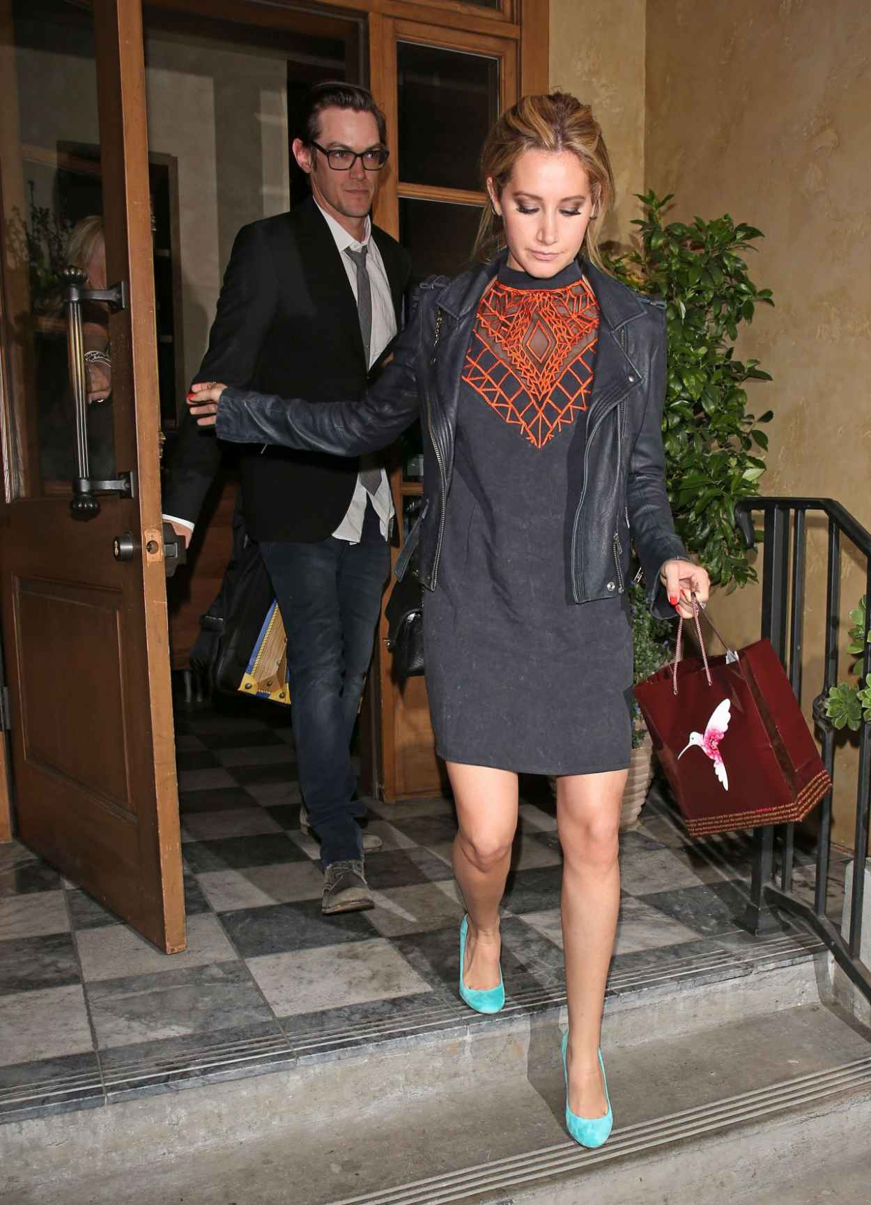 Ashley Tisdale - Leaving RivaBella Restaurant in West Hollywood-1