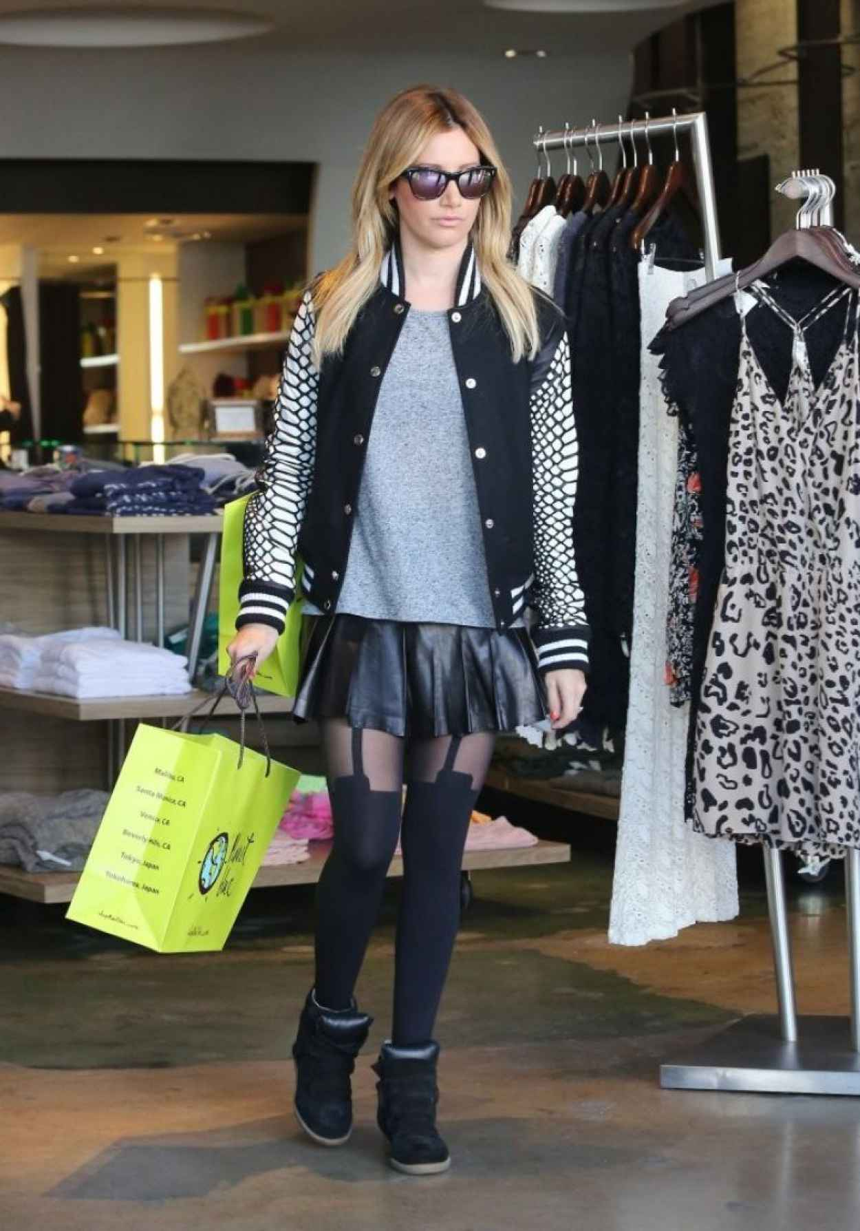 Ashley Tisdale Street Style - Shopping in Beverly Hills - December 2015-1