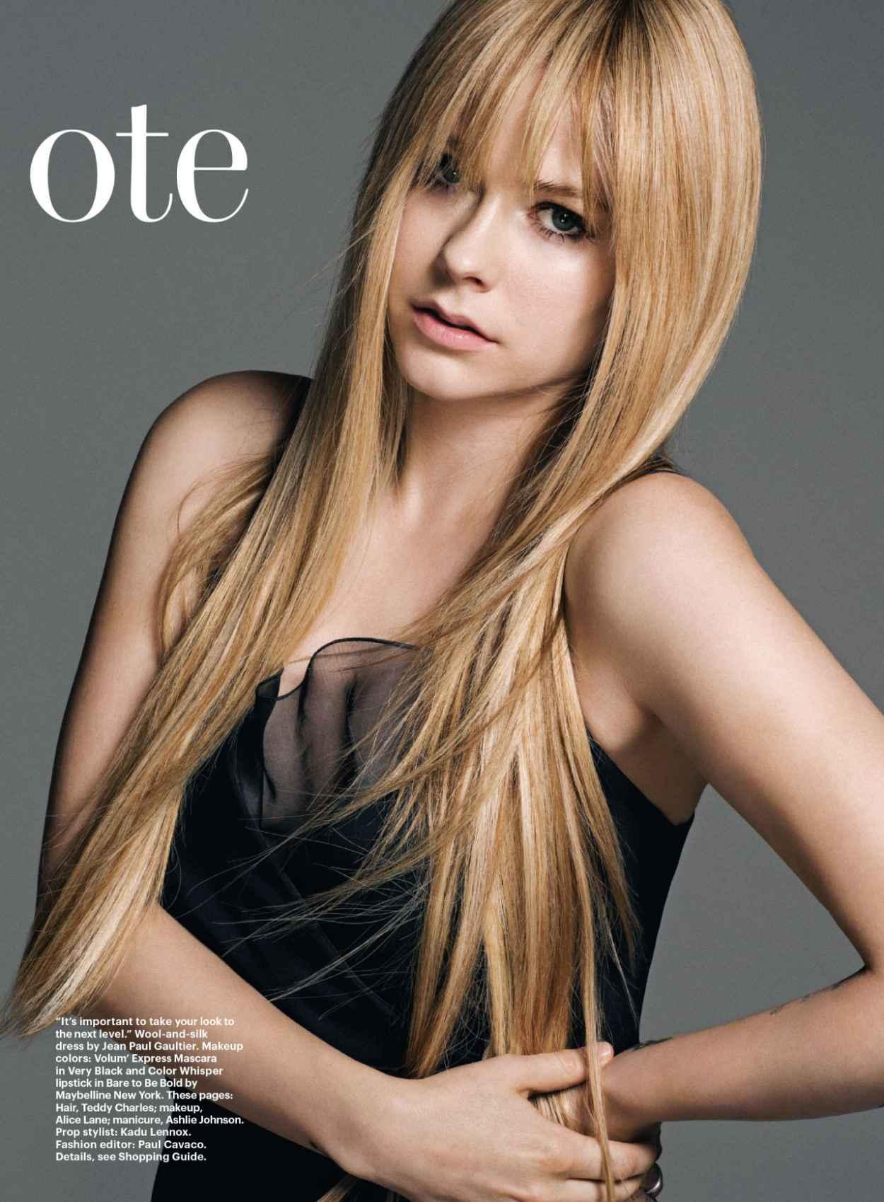 Avril Lavigne - ALLURE Magazine - January 2015 Issue-1