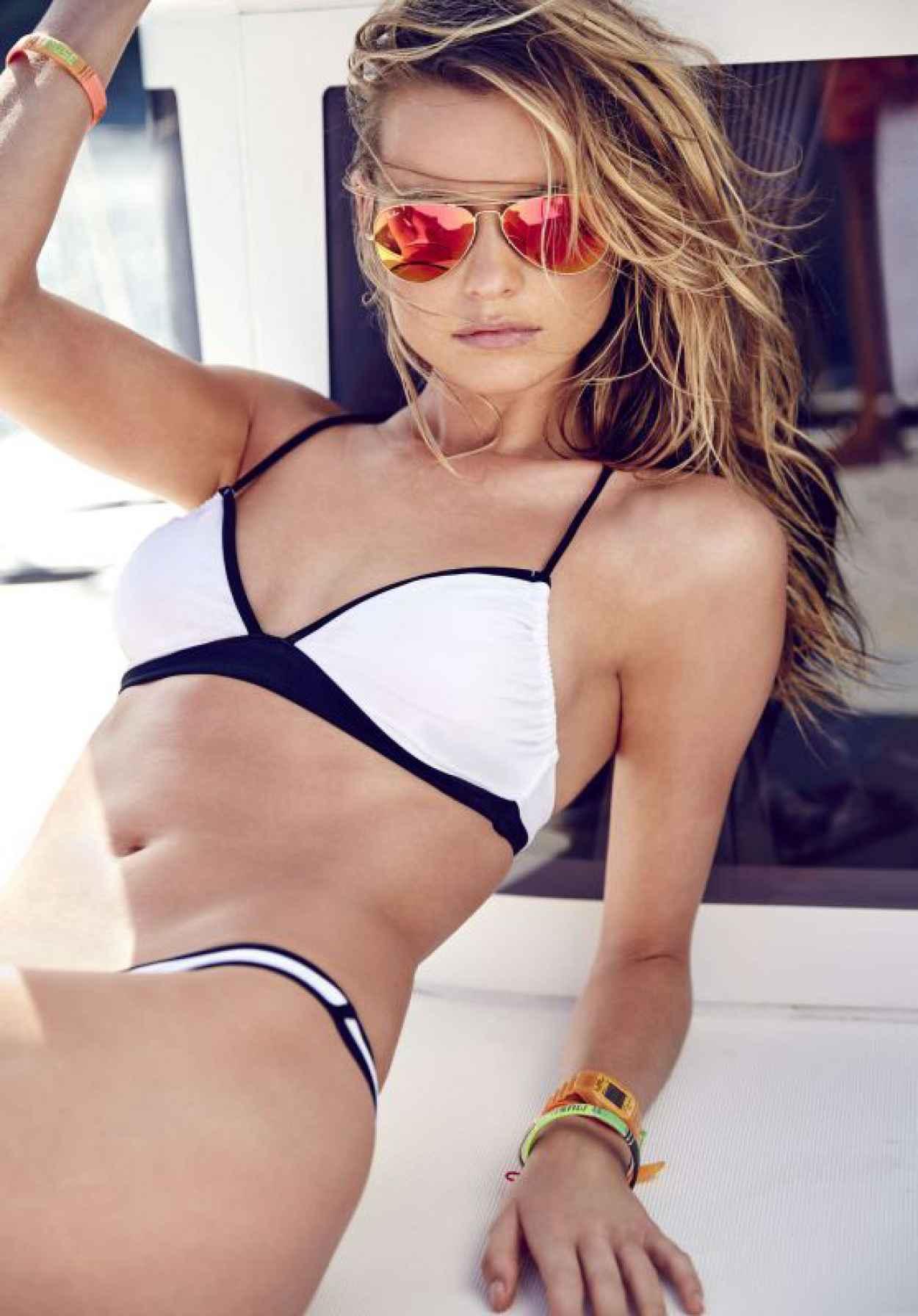 Behati Prinsloo Bikini Pics - Victoria-s Secret Swim Catalog 2015-1