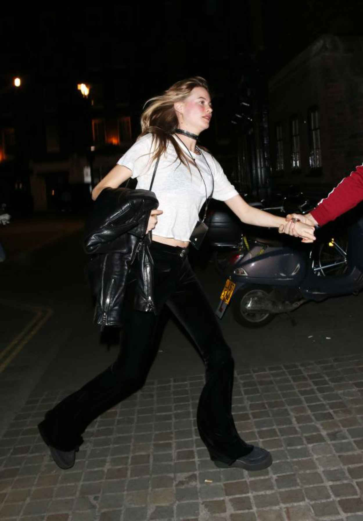 Behati Prinsloo Night Out Style - at the Chiltern Firehouse in London, May 2015-1