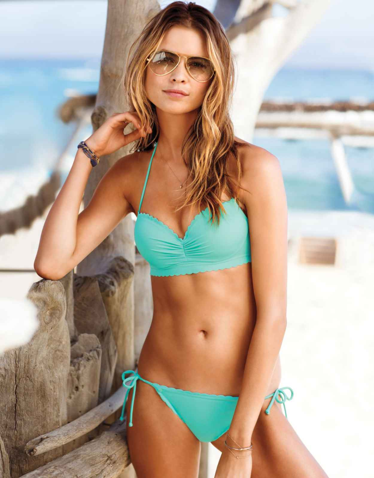 Behati Prinsloo Nikini Photos - Victorias Secret - Swim 2015 - St. Tropez-1