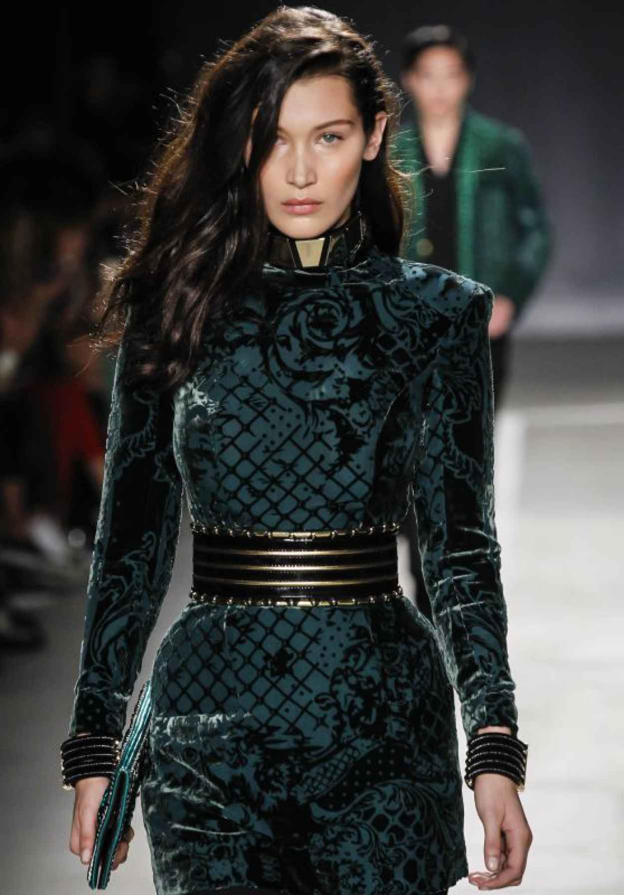 Bella Hadid - Runway at Balmain x H&M Collection Launch Event in New York-1