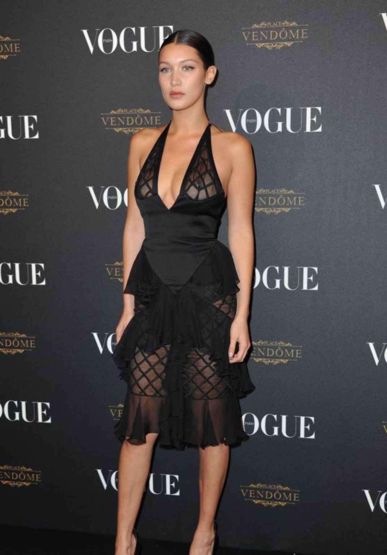Bella Hadid - Vogue 95th Anniversary Party in Paris-1