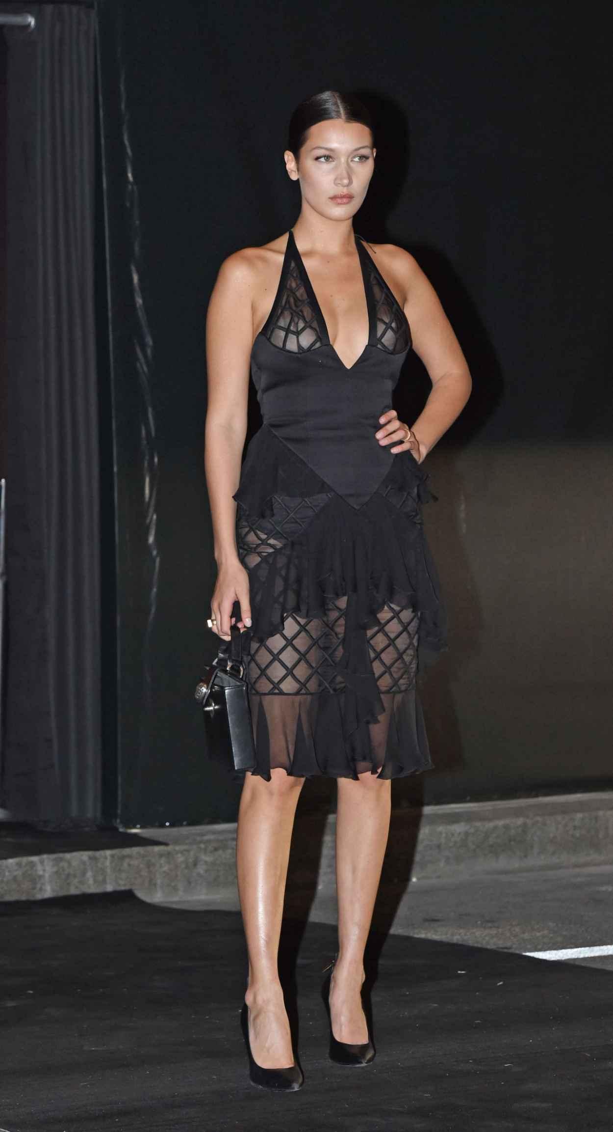 Bella Hadid - Vogue 95th Anniversary Party in Paris-3