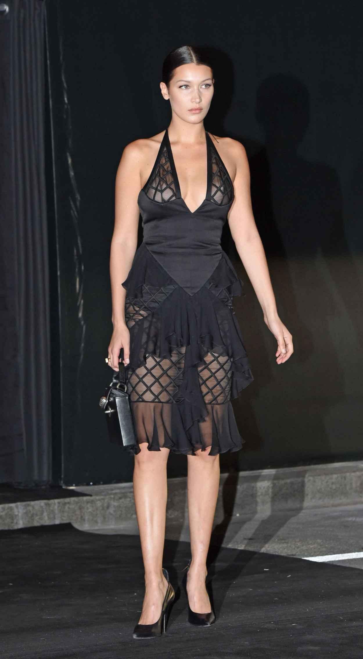 Bella Hadid - Vogue 95th Anniversary Party in Paris-4