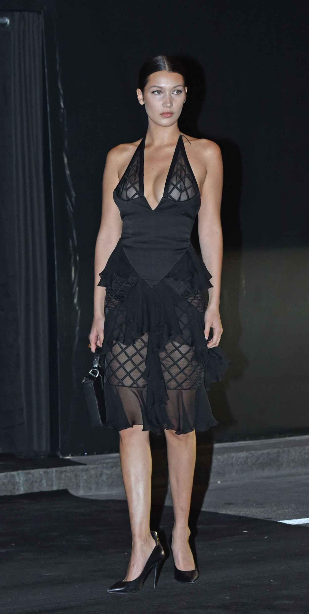 Bella Hadid - Vogue 95th Anniversary Party in Paris-5