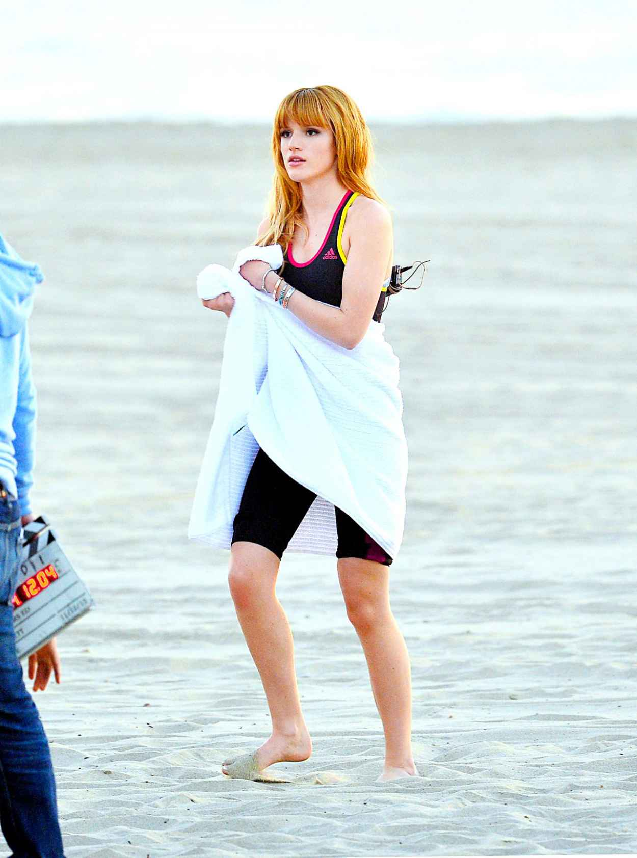 Bella Thorne - Filming a Commercial in Santa Monica - California December 2015-4