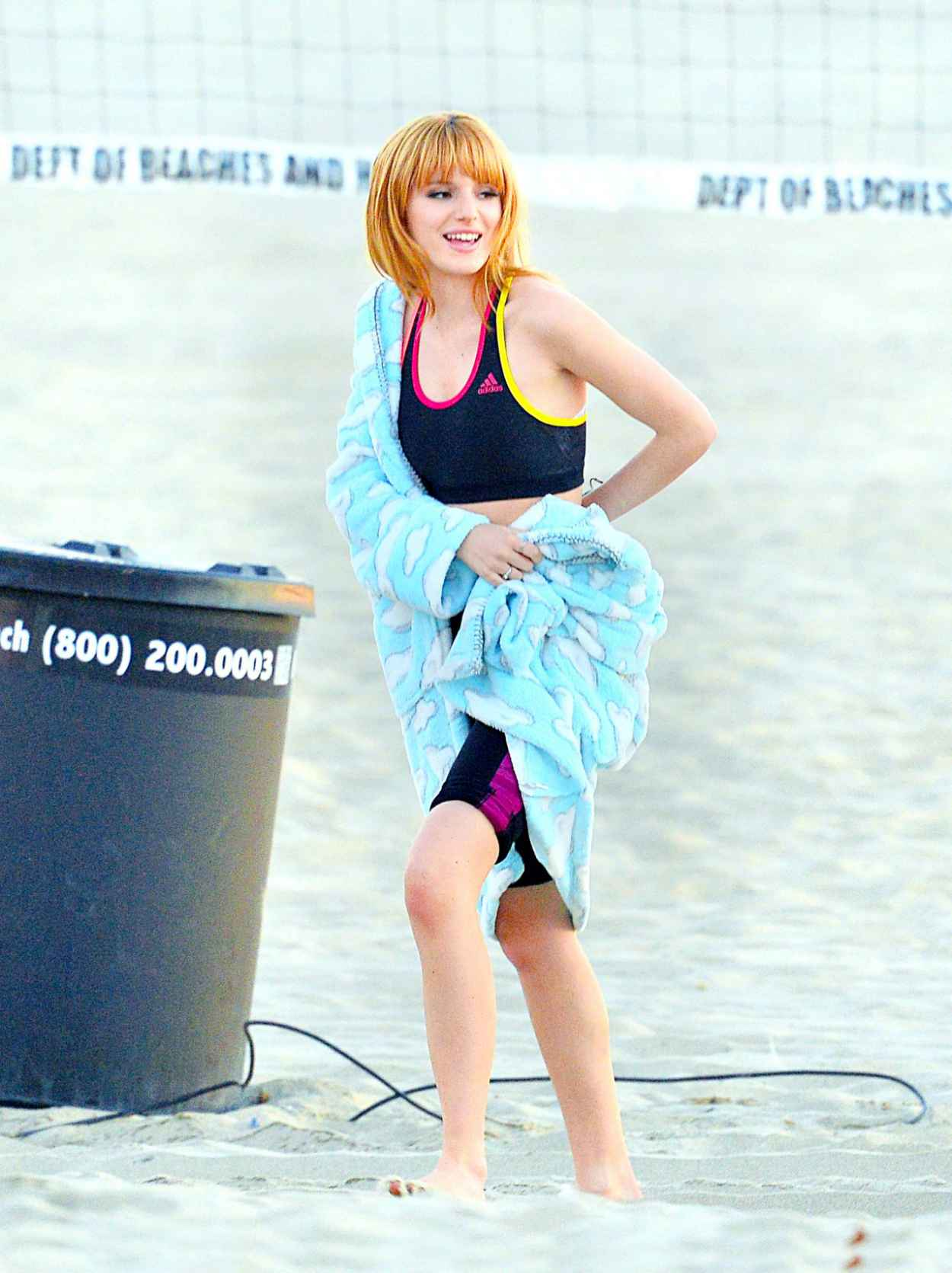 Bella Thorne - Filming a Commercial in Santa Monica - California December 2015-5