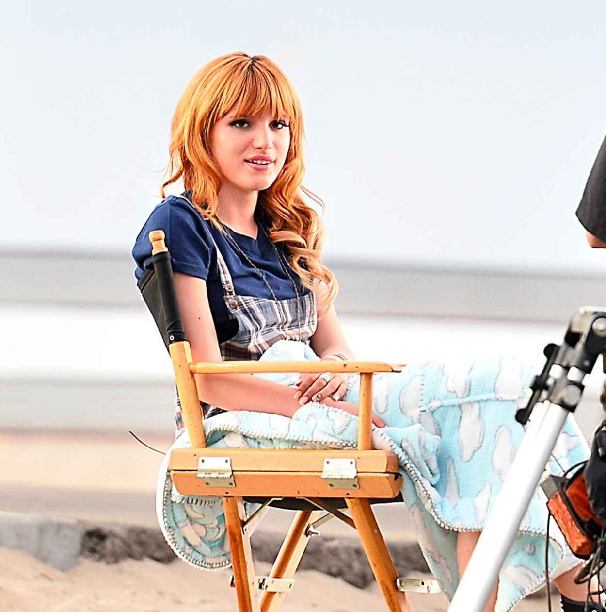 Bella Thorne - On the Set of a Commercial-1