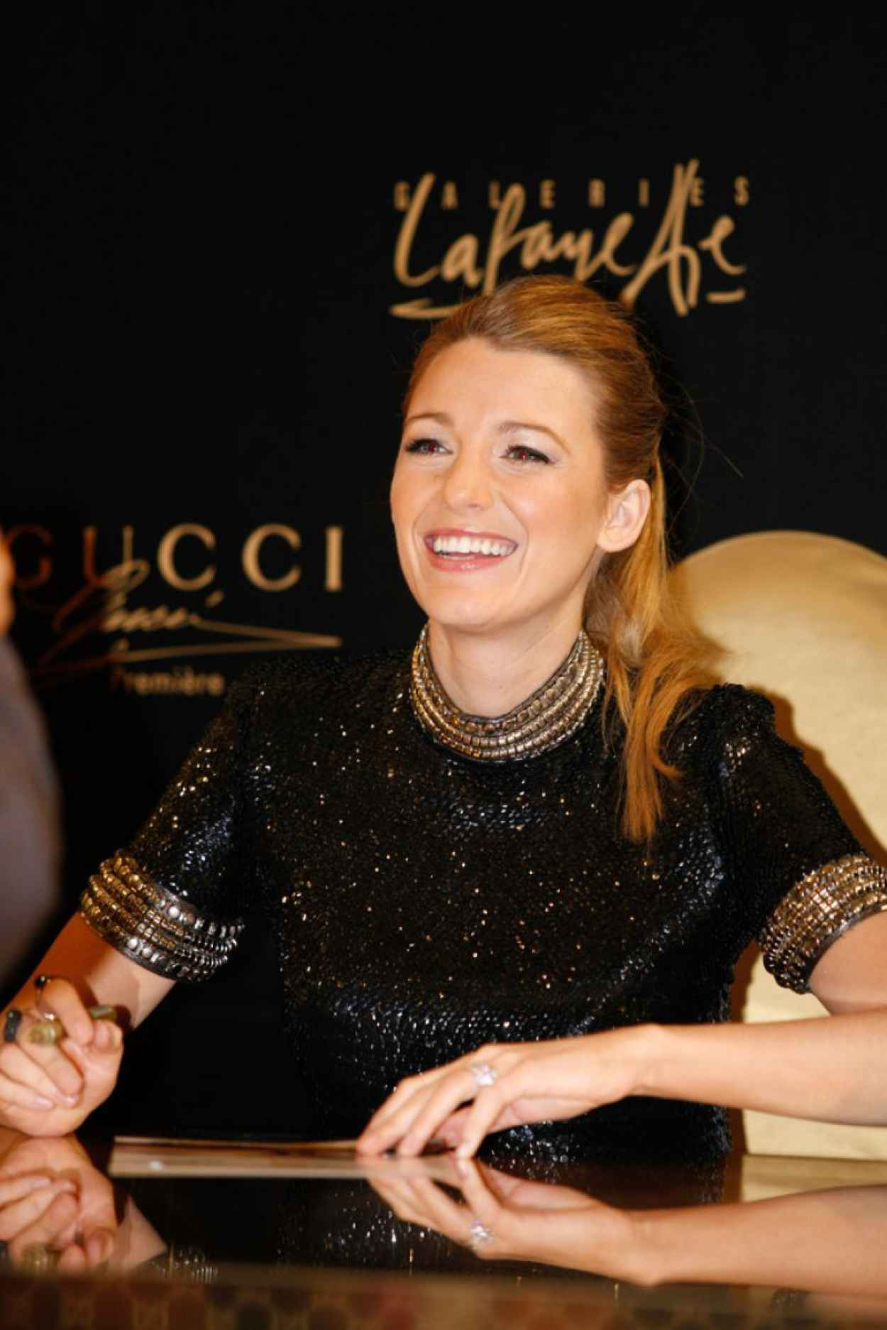 Blake Lively Attends the Gucci Premiere Meet and Greet in Dubai - January 2015-1
