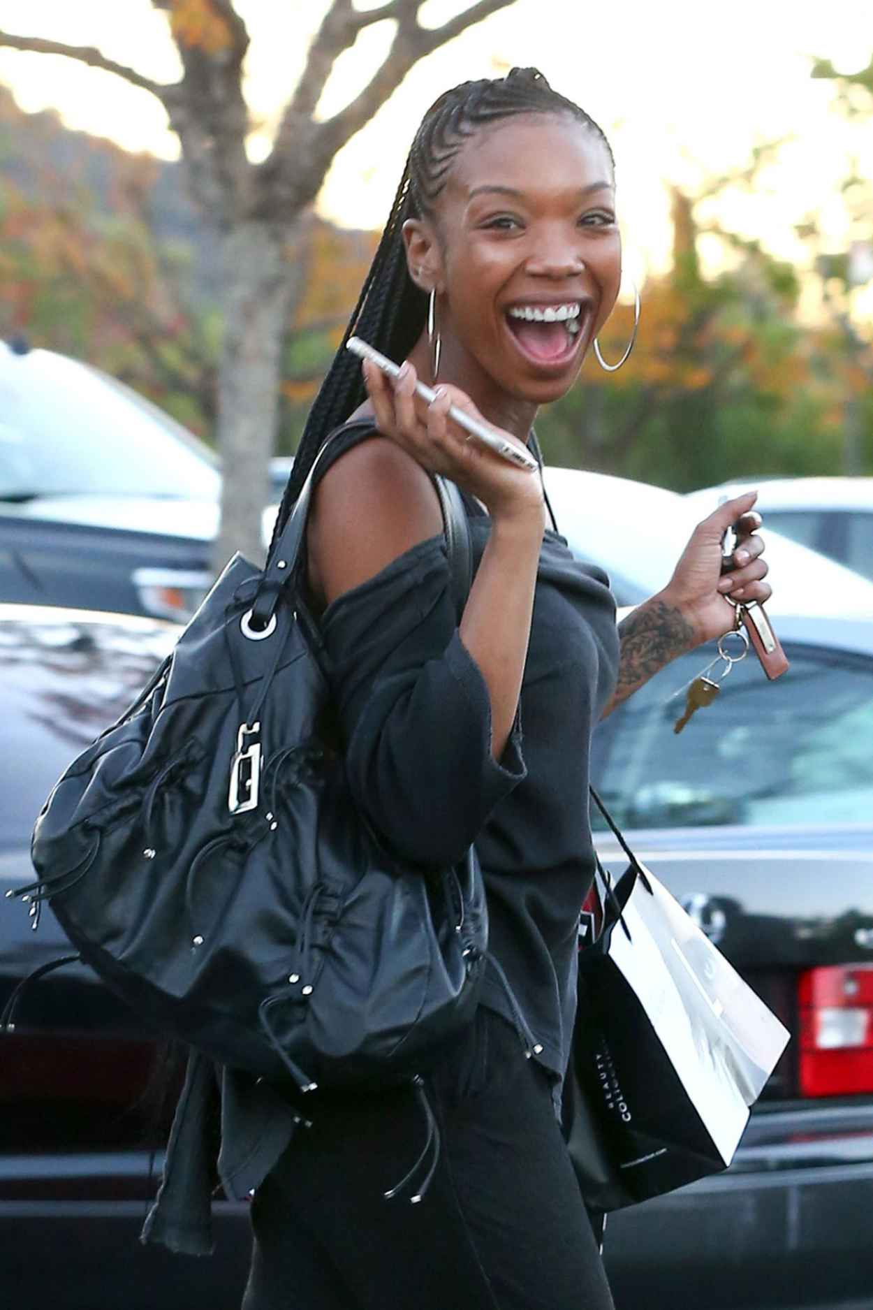 Brandy Norwood - Out Shopping in Los Angeles - December 2015-1