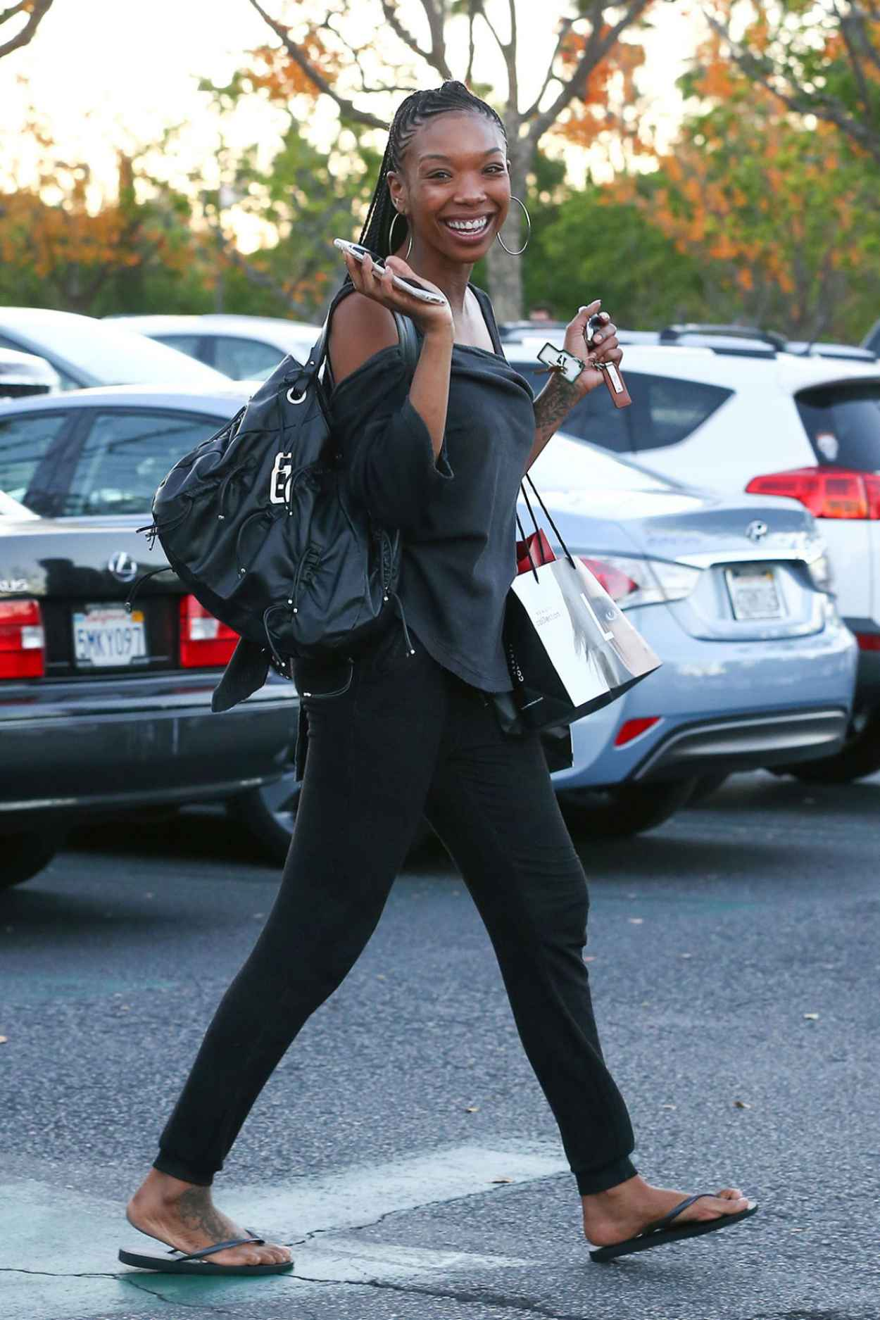 Brandy Norwood - Out Shopping in Los Angeles - December 2015-2