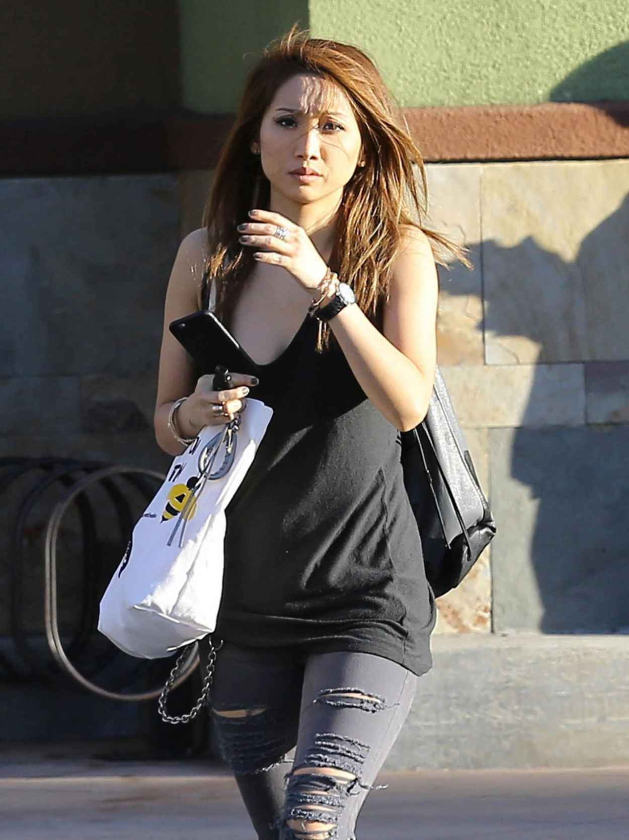 Brenda Song in Ripped Jeans - Out in Los Angeles, December 2015-1