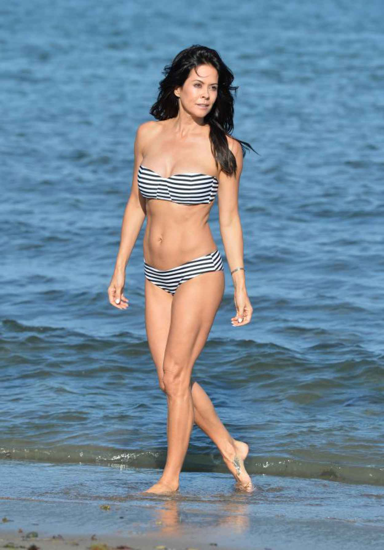 Brooke Burke in a Bikini on a Beach in Malibu, July 2015-1