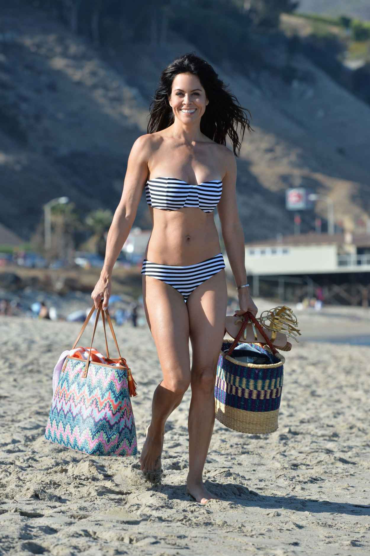 Brooke Burke in a Bikini on a Beach in Malibu, July 2015-2