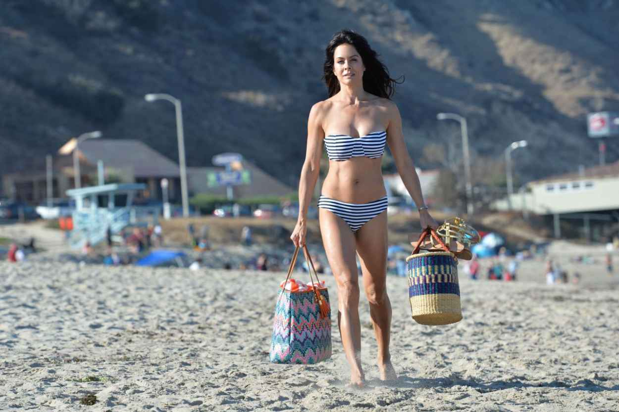 Brooke Burke in a Bikini on a Beach in Malibu, July 2015-3