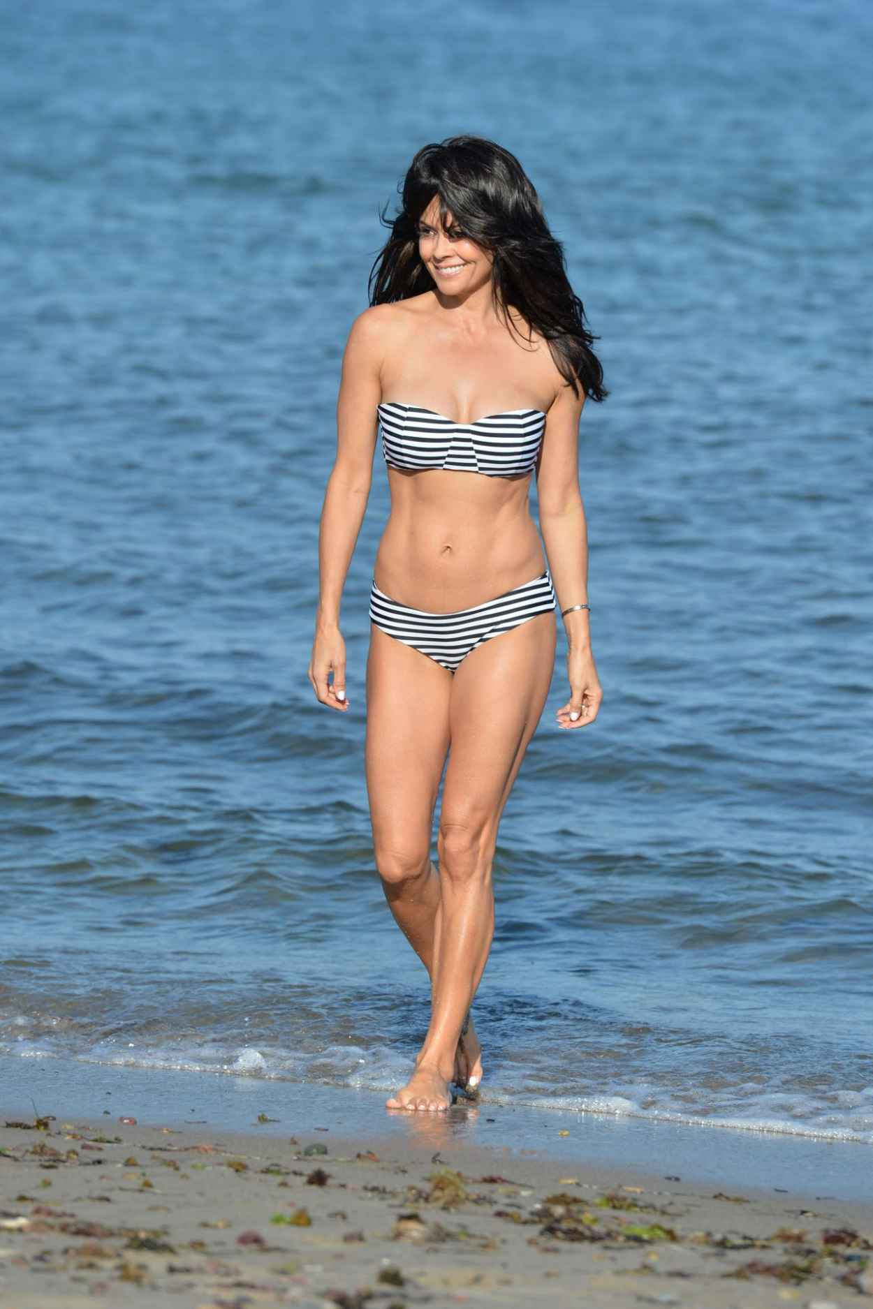 Brooke Burke in a Bikini on a Beach in Malibu, July 2015-4