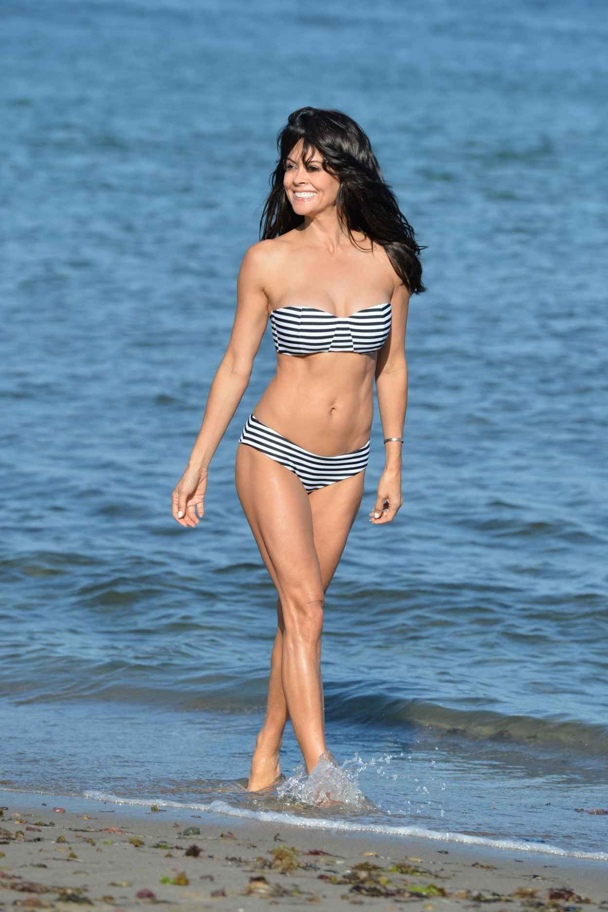 Brooke Burke in a Bikini on a Beach in Malibu, July 2015-5