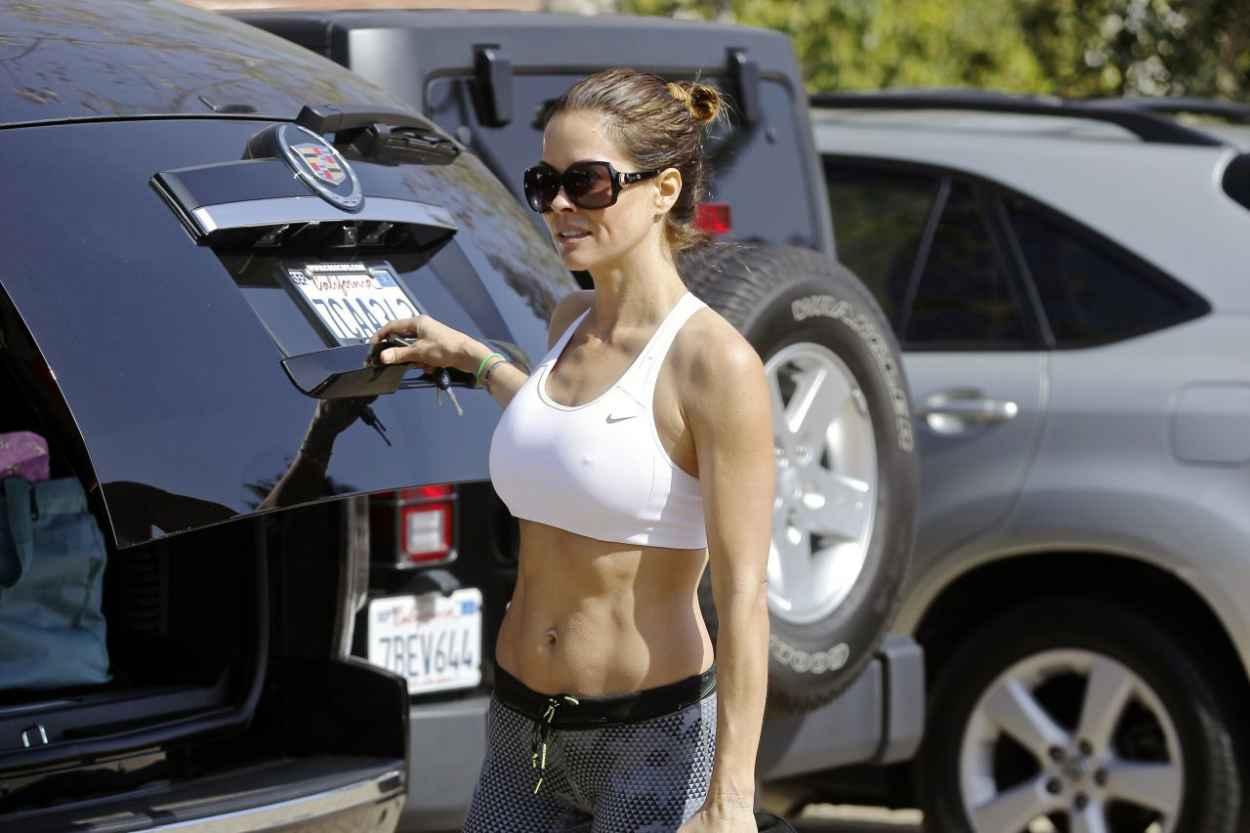 Brooke Burke Street Style - Leaving a Yoga Class in Malibu-5