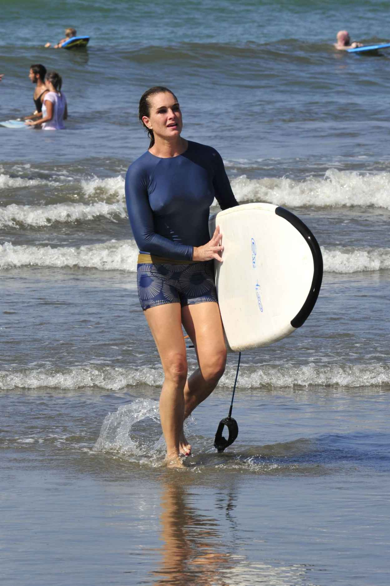 Brooke Shields - Surfing Lesson in Costa Rica, March 2015-1