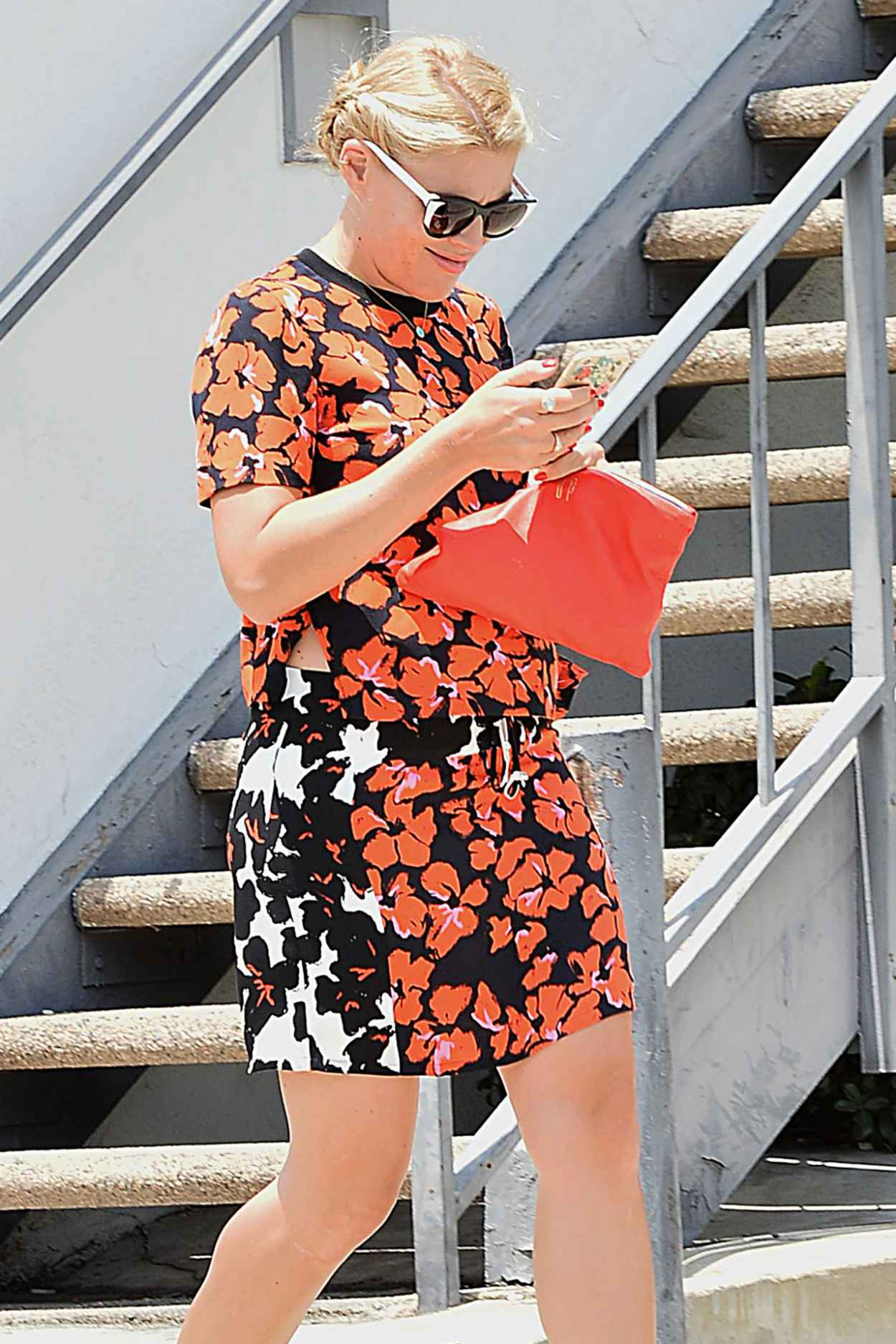 Busy Phillipps - Leaving Gracias Madre in Los Angeles, June 2015-3