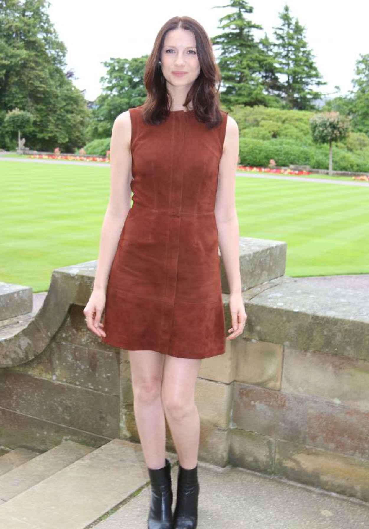 Caitriona Balfe - Outlander Press Conference in Scotland-1