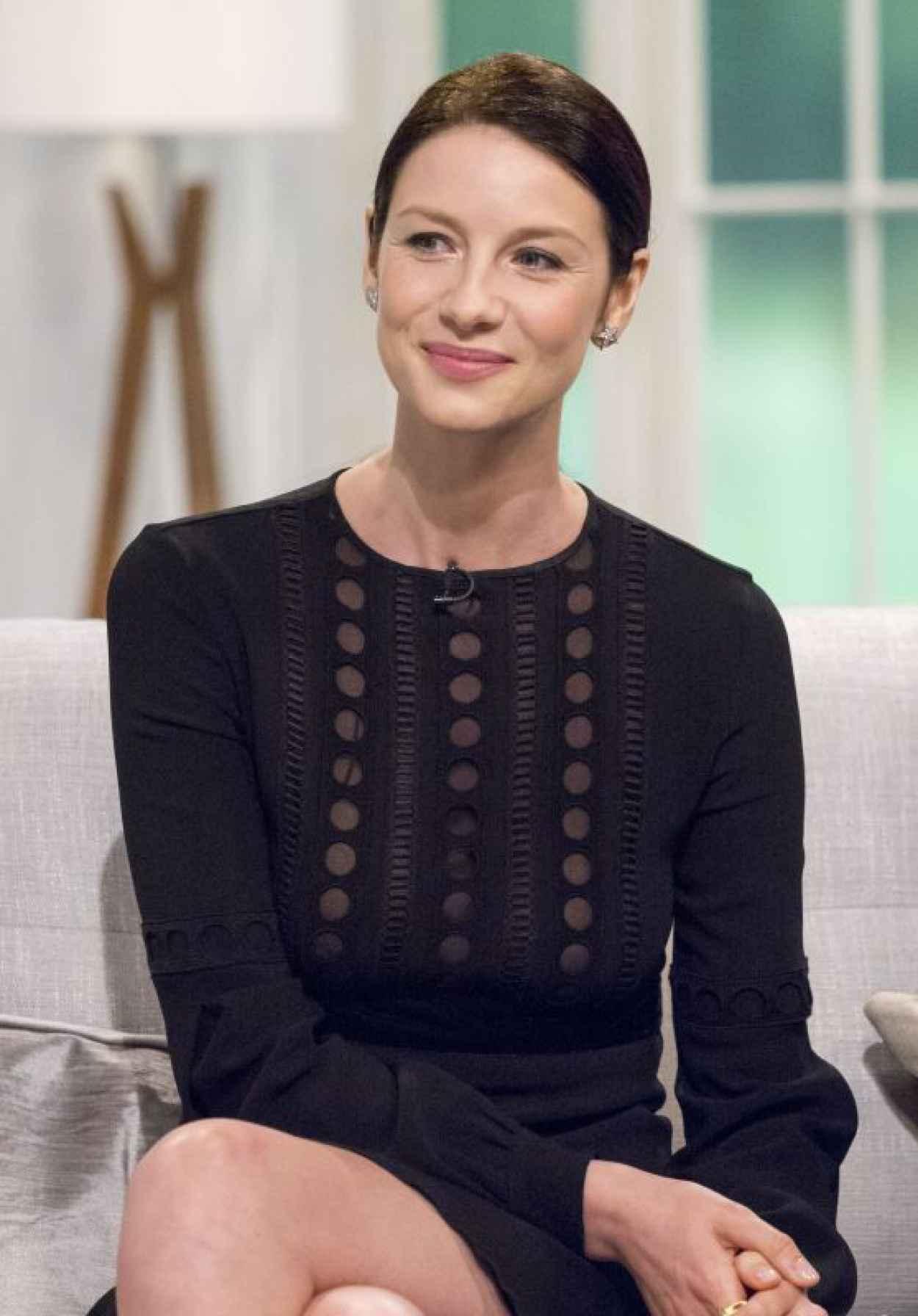 Caitriona Balfe - UK-s Lorraine TV talk show in London, March 2015-1