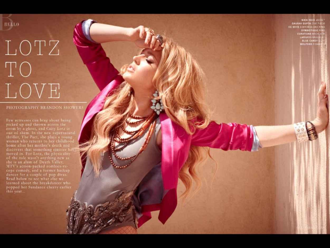 Caity Lotz - Bello Magazine 2012-1